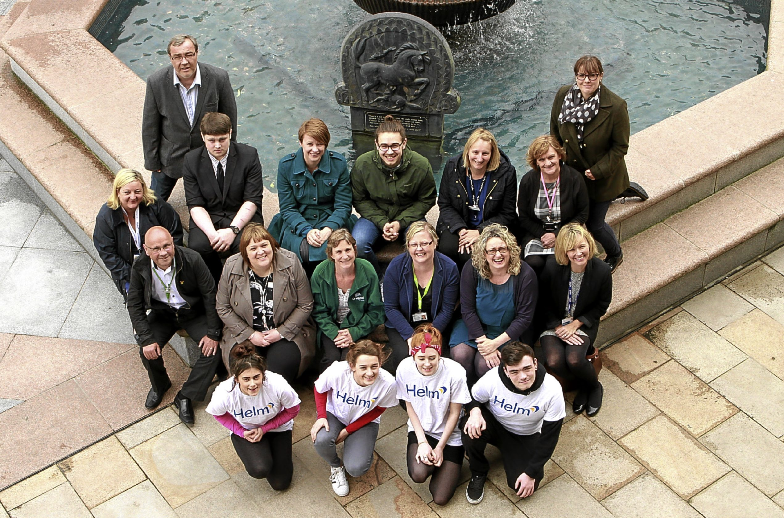 A team photo of partners involved in the Tele's campaign.