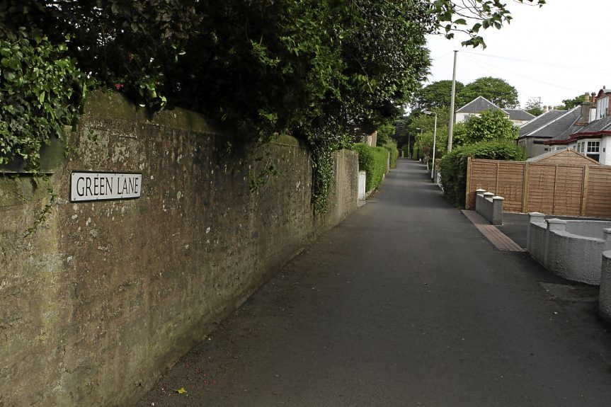 Green Lane, Carnoustie where the incident happened