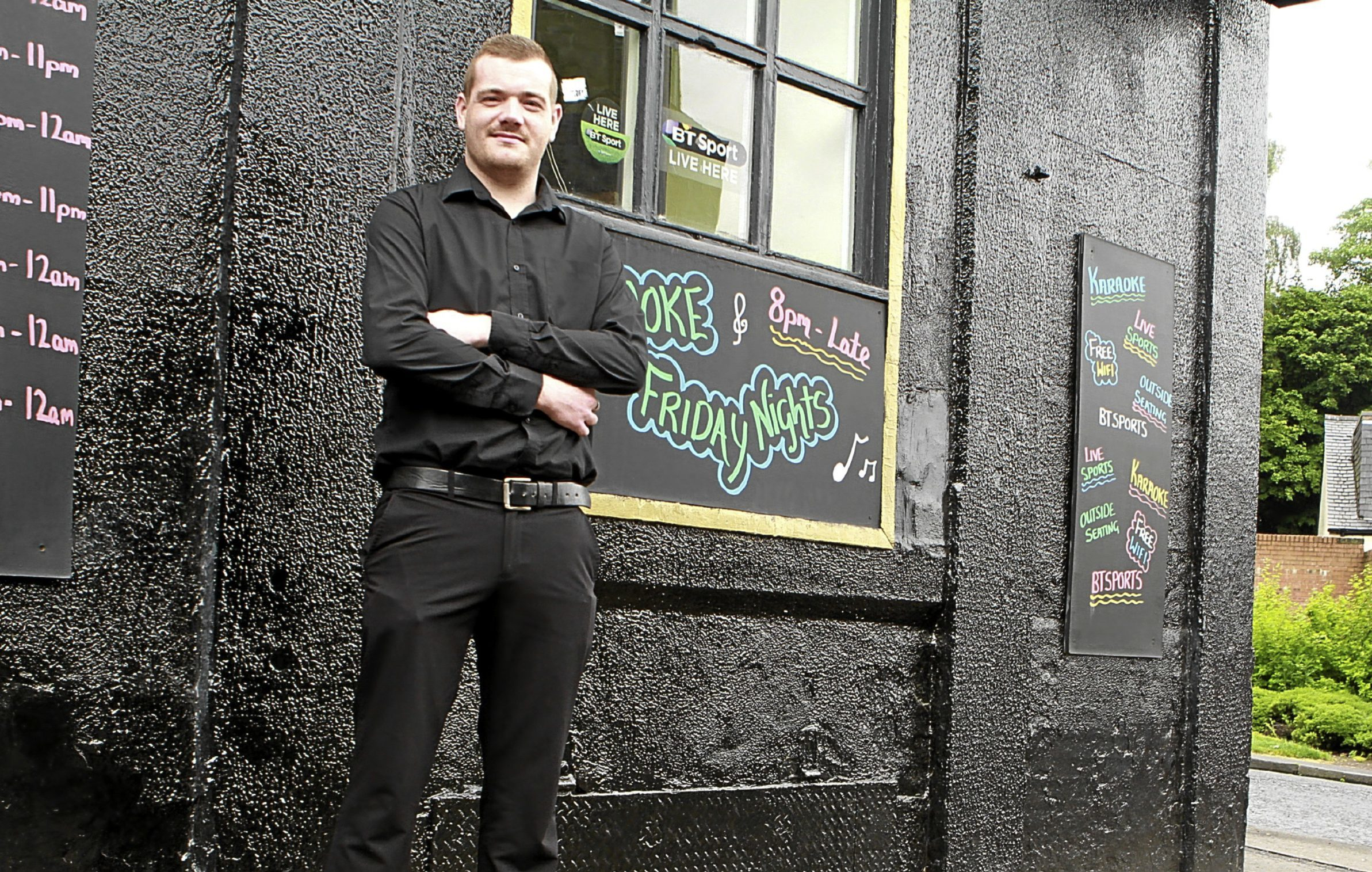 Manager Nathan Stewart outside the Queen Anne on City Road.