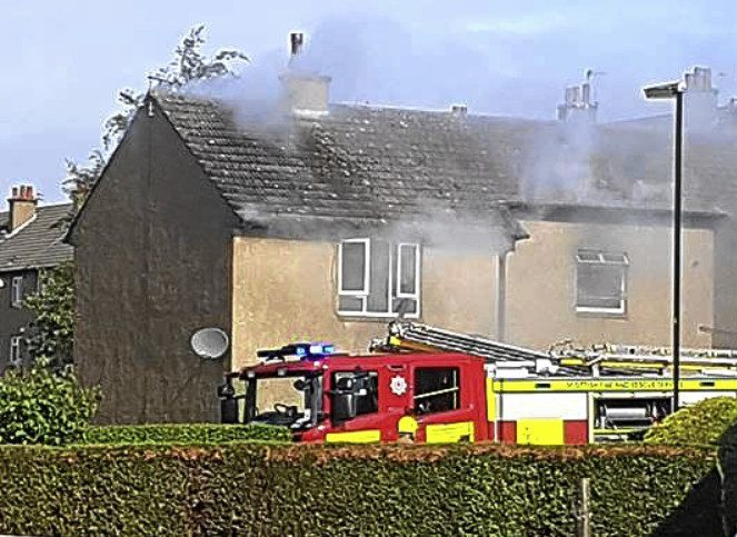 Firefighters attended the blaze
