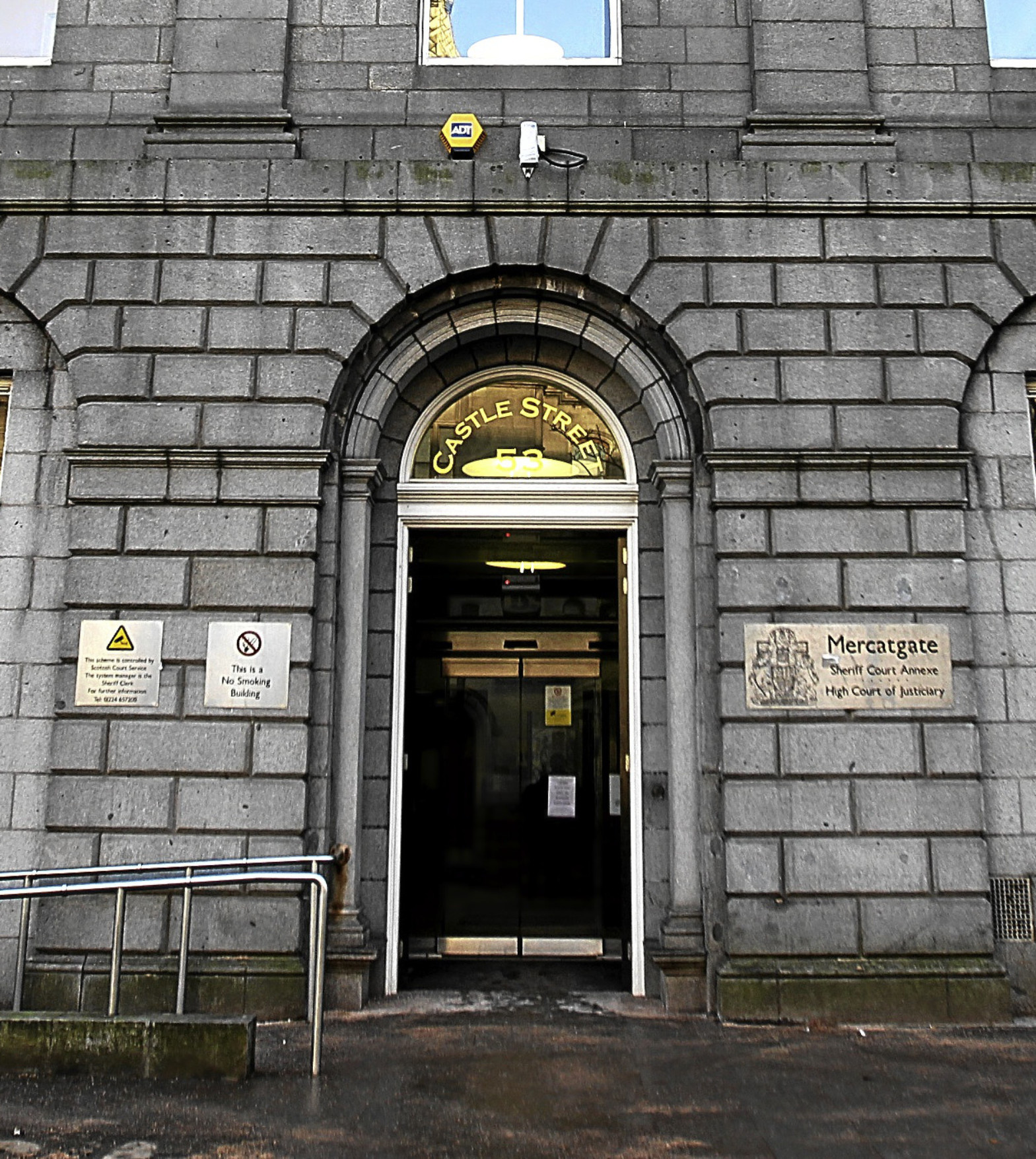 A general view of a Aberdeen High Court.