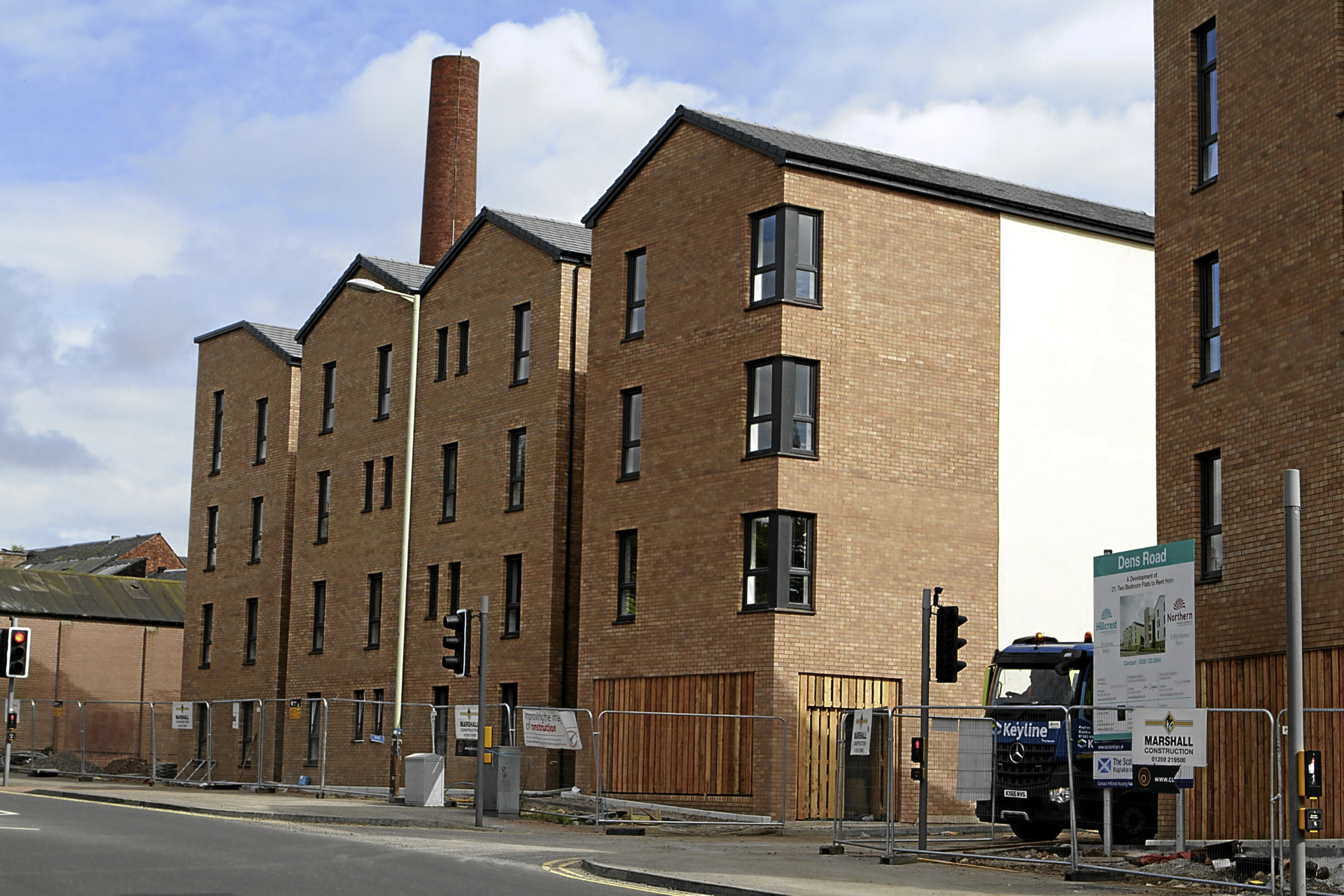 The new flats that have been built on the former Dens Metals site in Dens Road, Dundee, where tenants will benefit from free internet access.