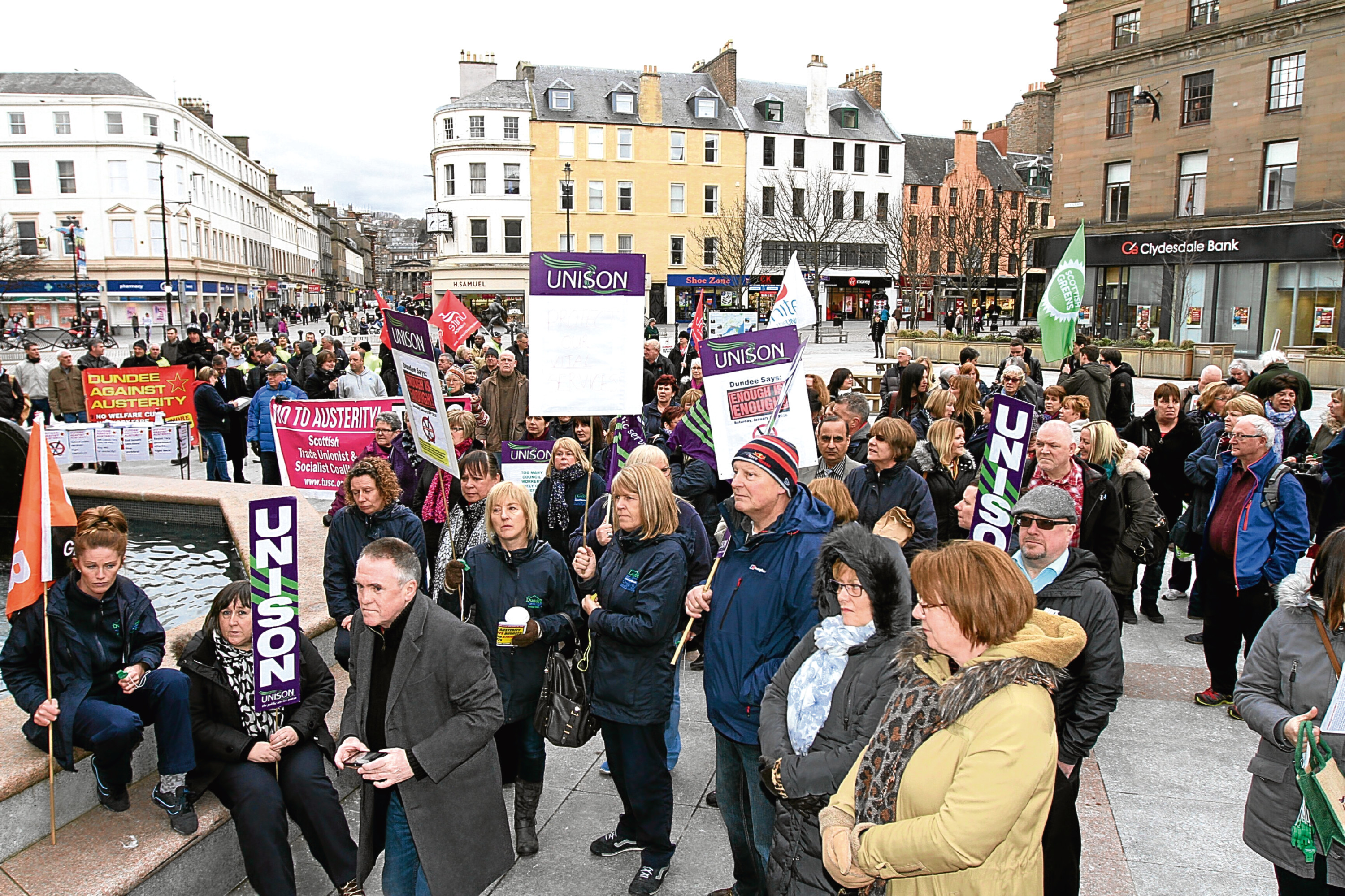 Crowds protested against the cut earlier this year