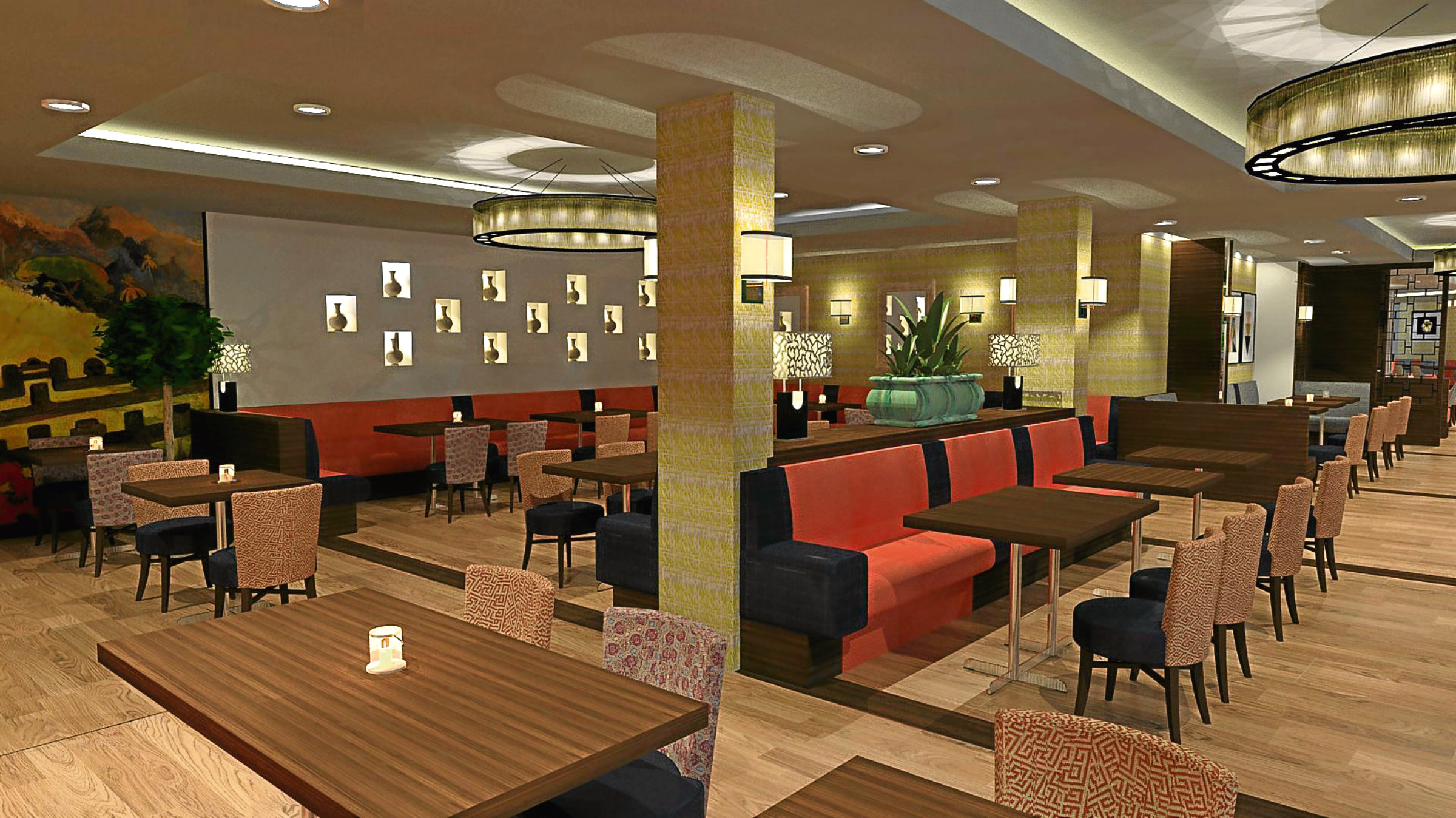 An artist's impression of the restaurant and bar expansion at the Hampton by Hilton