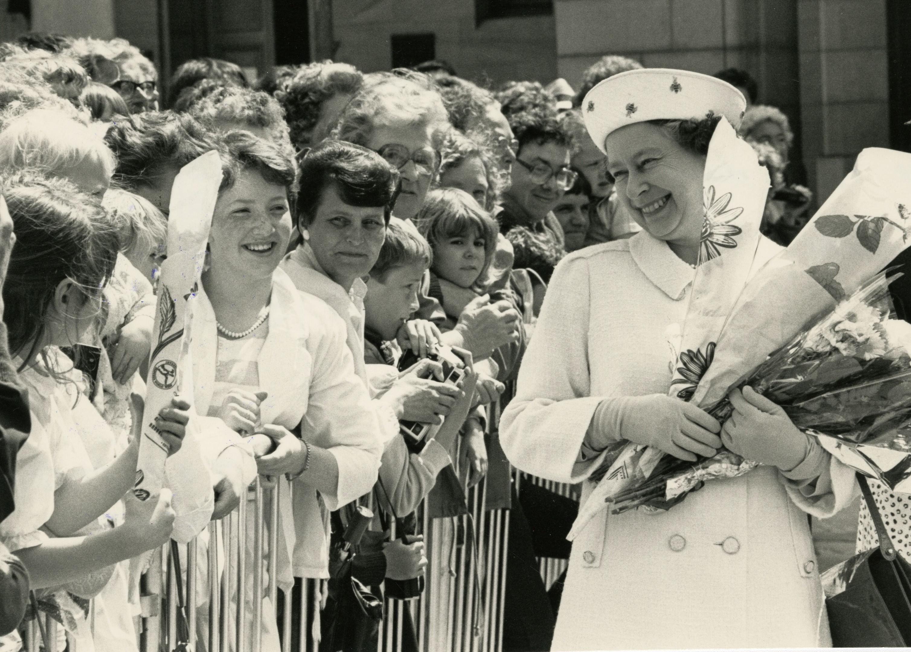 The Queen during a visit to Dundee in 1987.