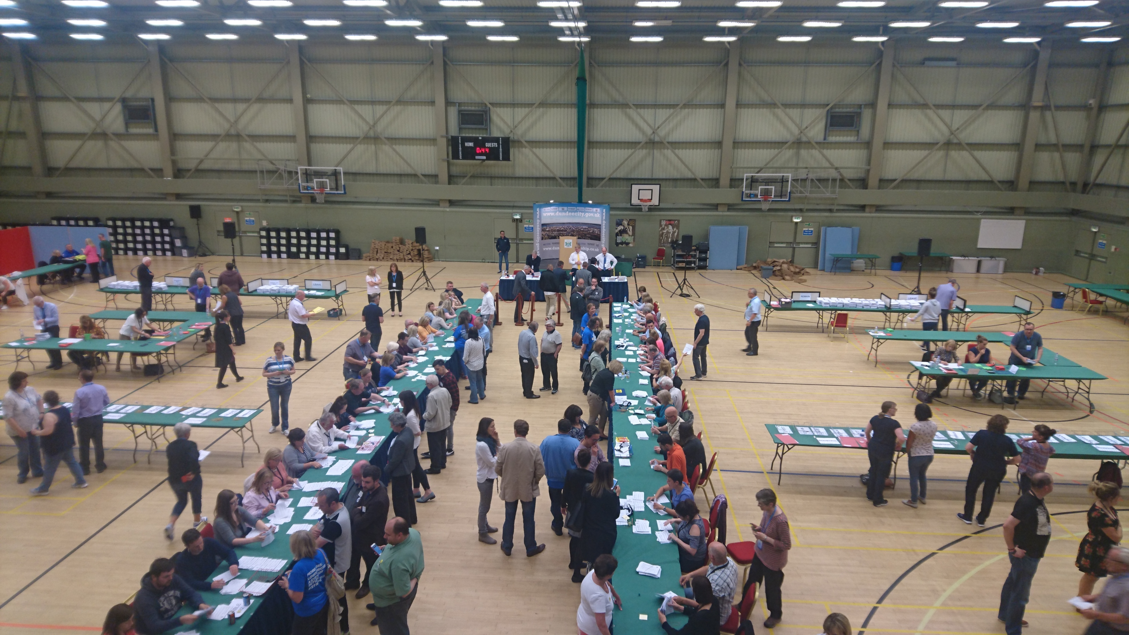 Volunteers busy counting 66,418 votes