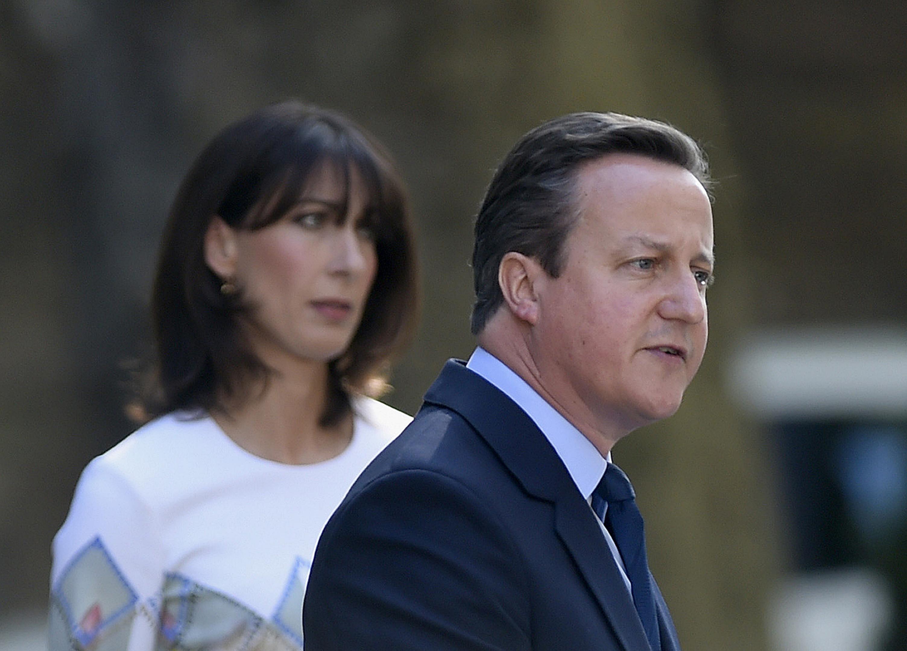 David Cameron announces his resignation at 10 Downing Street.