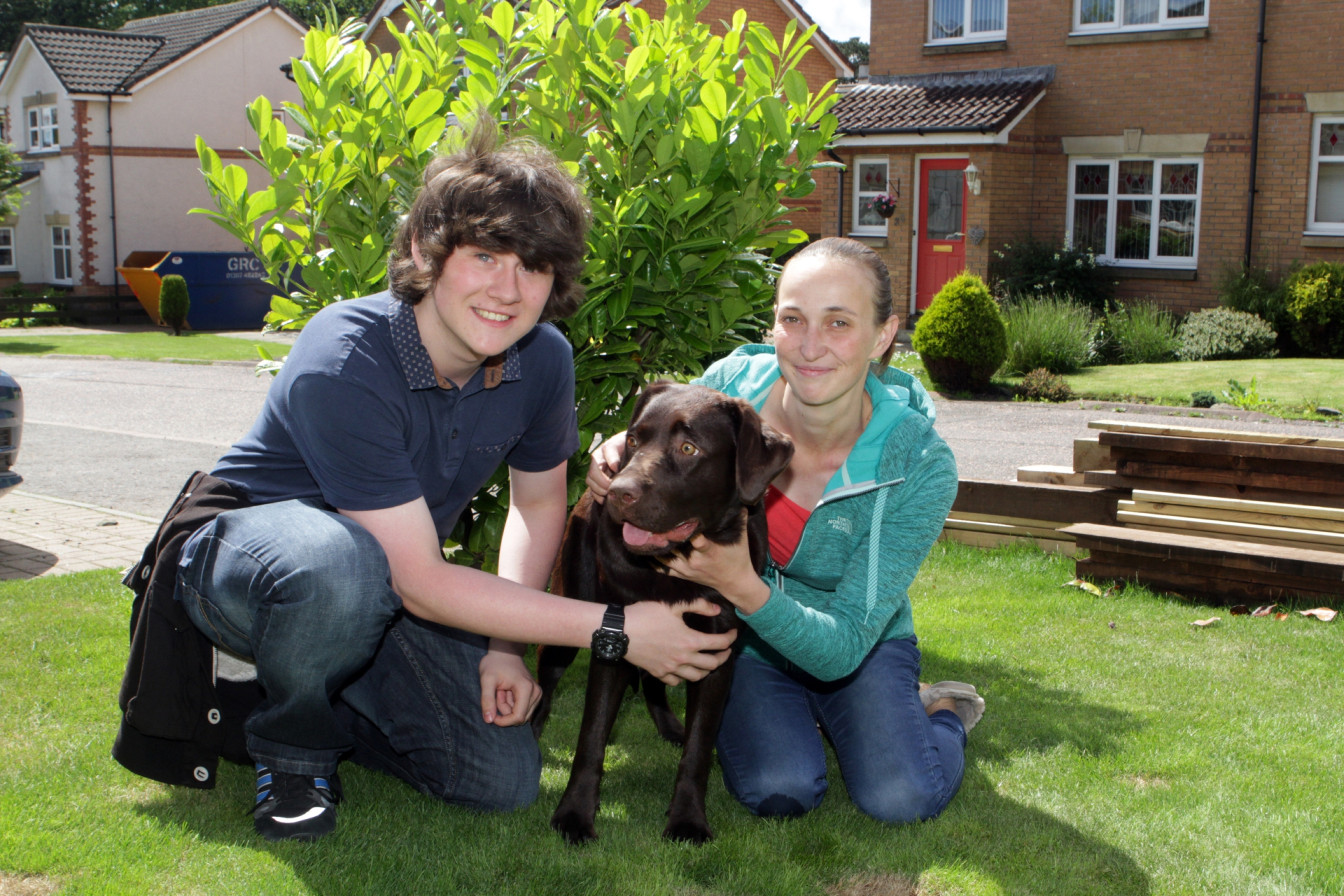 Conor Giblin with Millie and Irina Daisner
