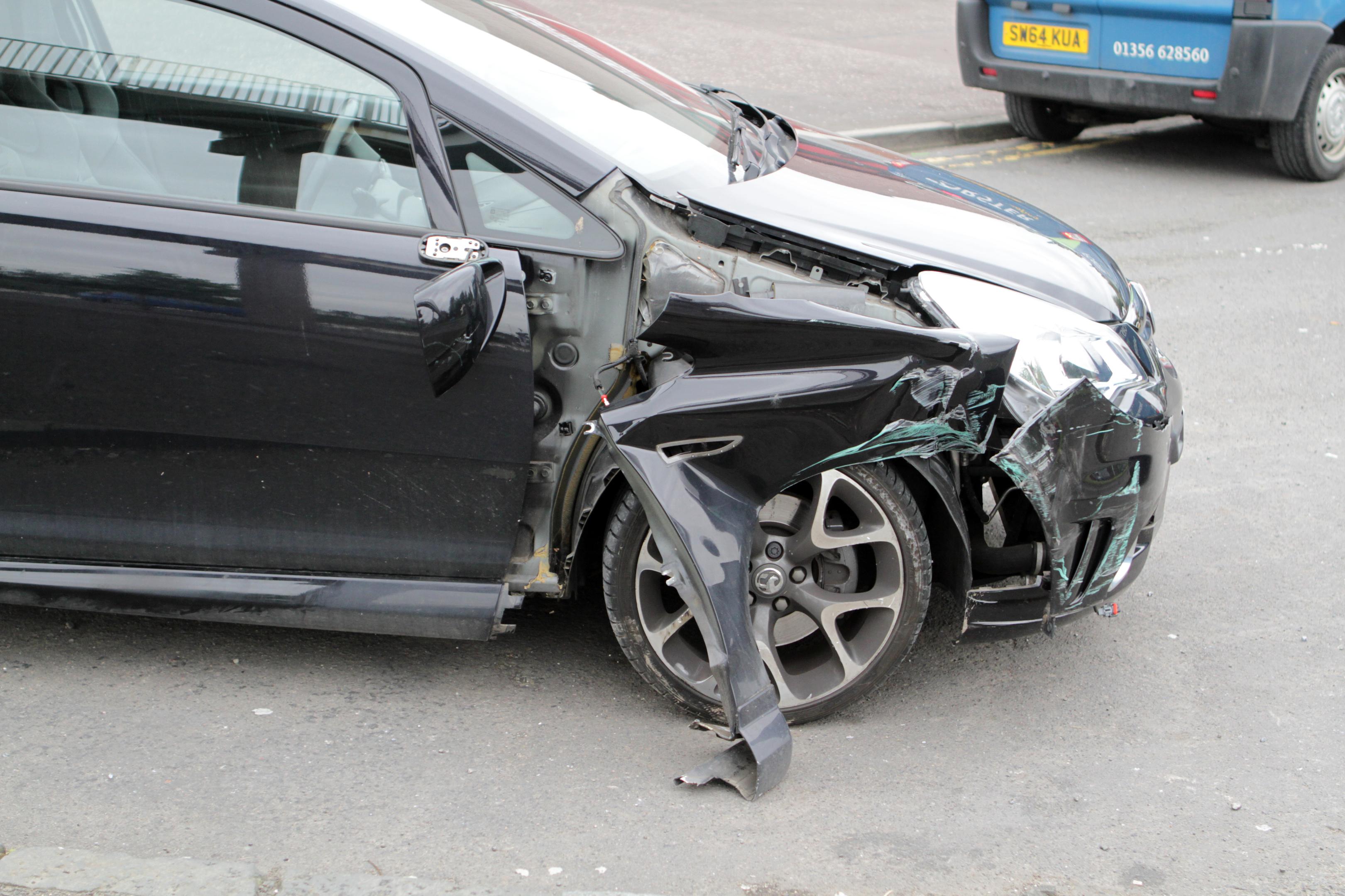 The damaged Corsa.
