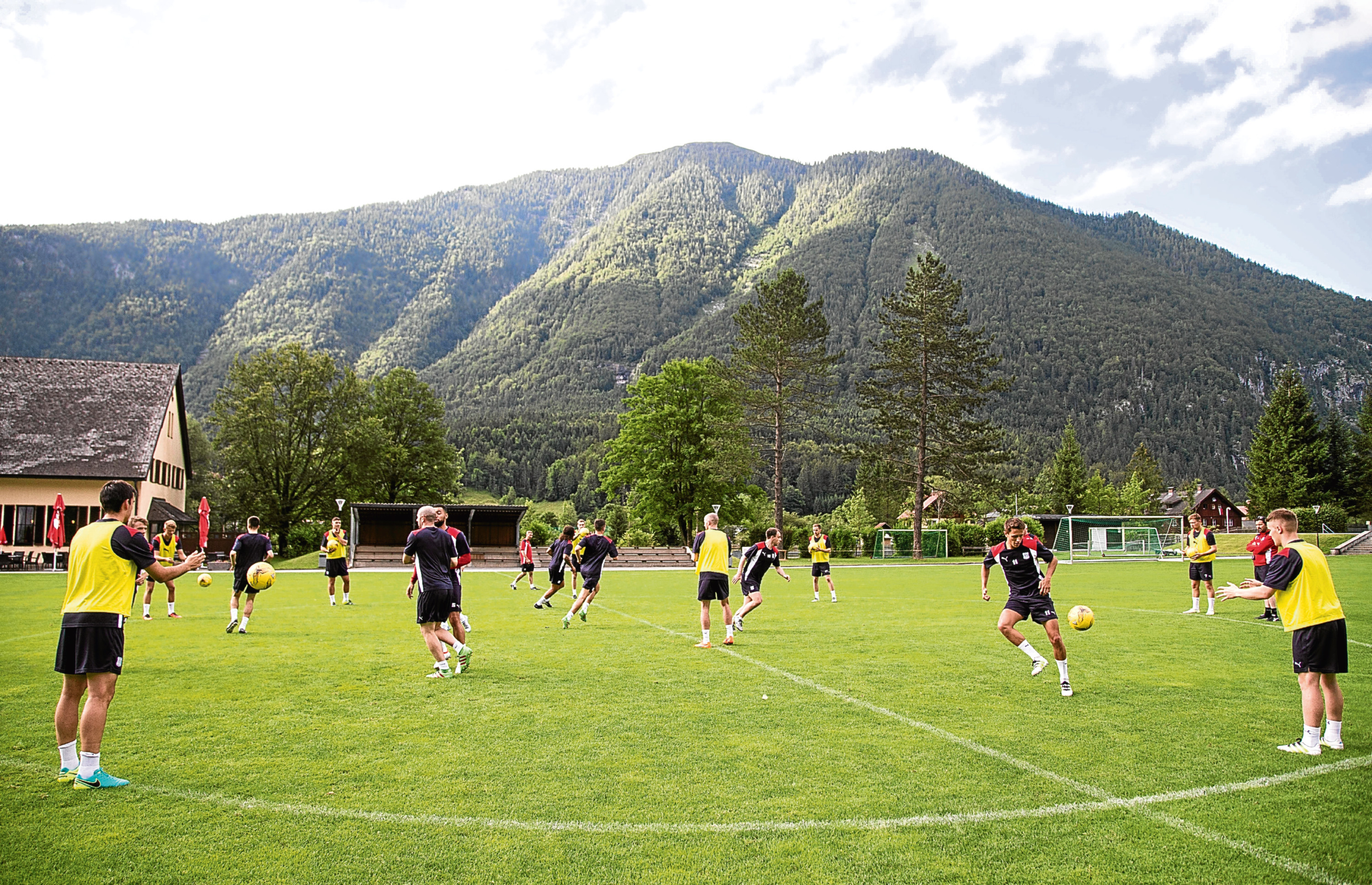 Dundee's pre-season trip to Austria is under way. Picture by David Young