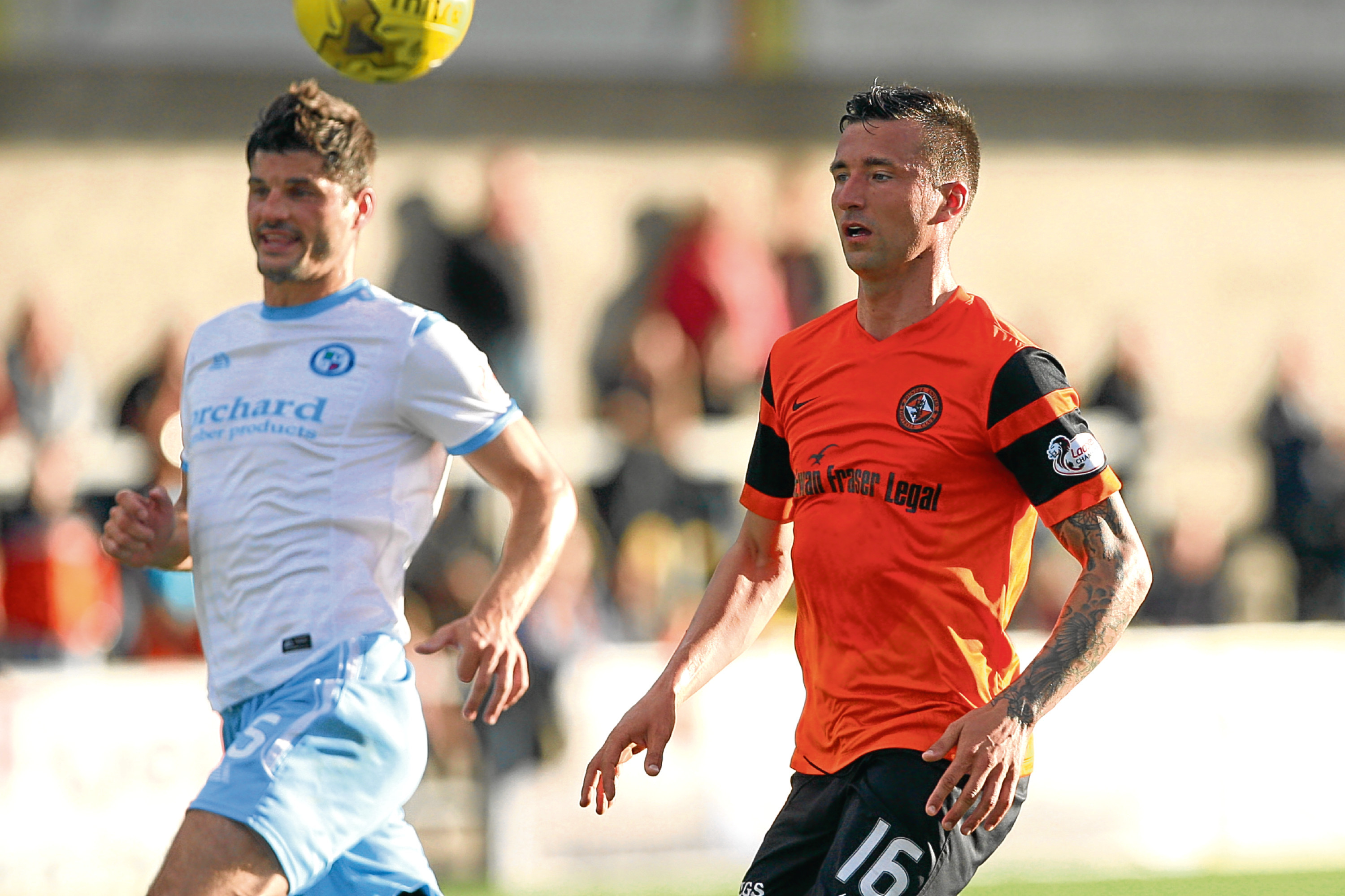 Trialist Alen Ploj missed a few chances as Dundee United were held to 1-1 draw by Forfar in Tuesday night's friendly at Station Park.