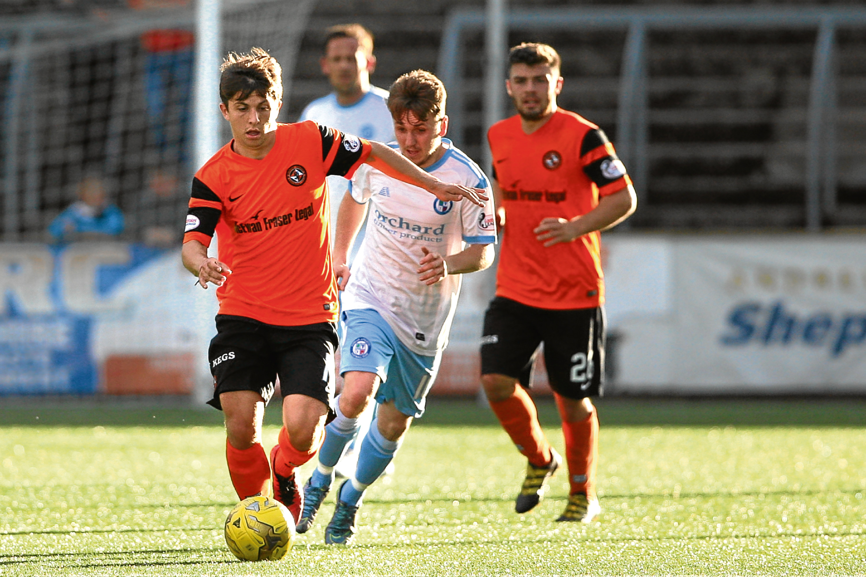 Charlie Telfer featured in Tuesday's friendly draw with Forfar Athletic at Station Park.