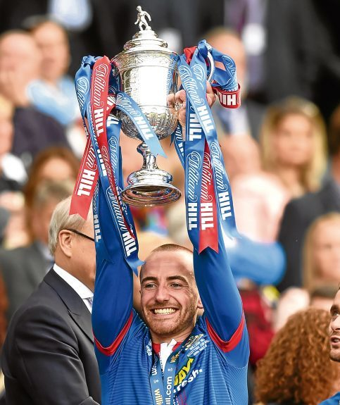 James Vincent won the Scottish Cup with Inverness CT.