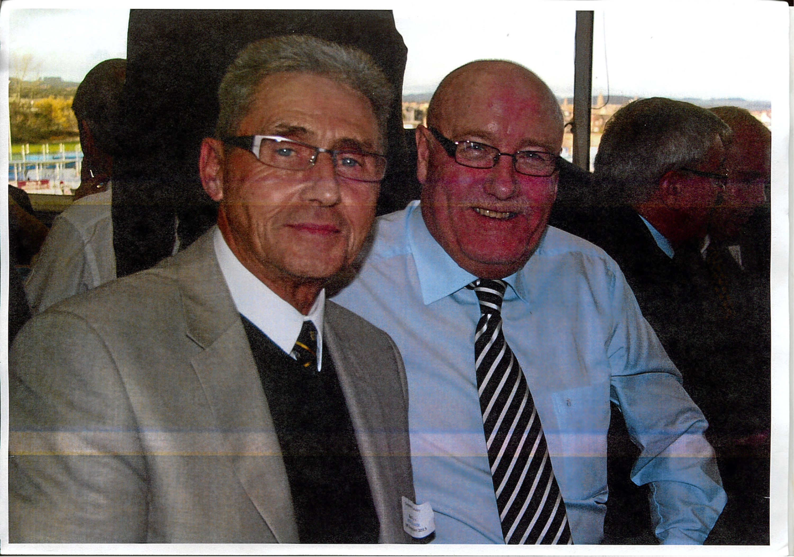 Jim Finlayson and I at an East fife reunion a couple of years ago at Bayview.