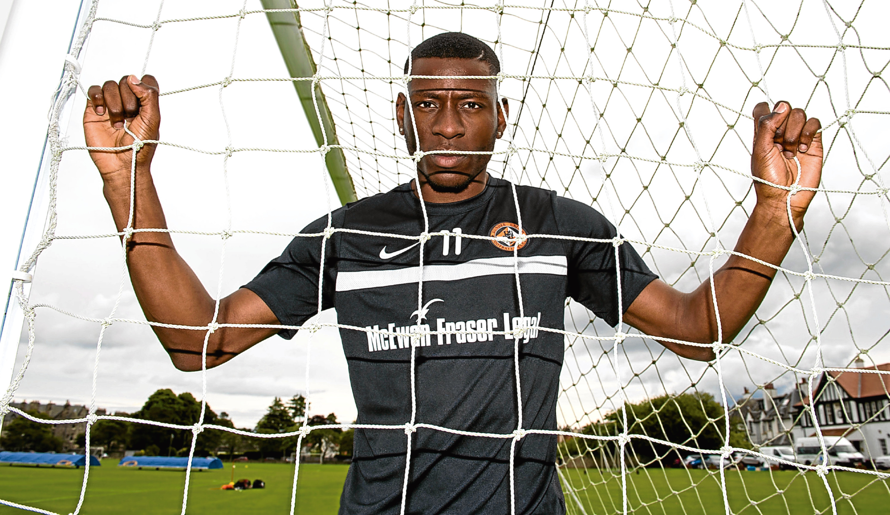 New signing Tope Obadeyi can play through the middle or wide on the right depending on how Dundee United boss Ray McKinnon sets up his team.