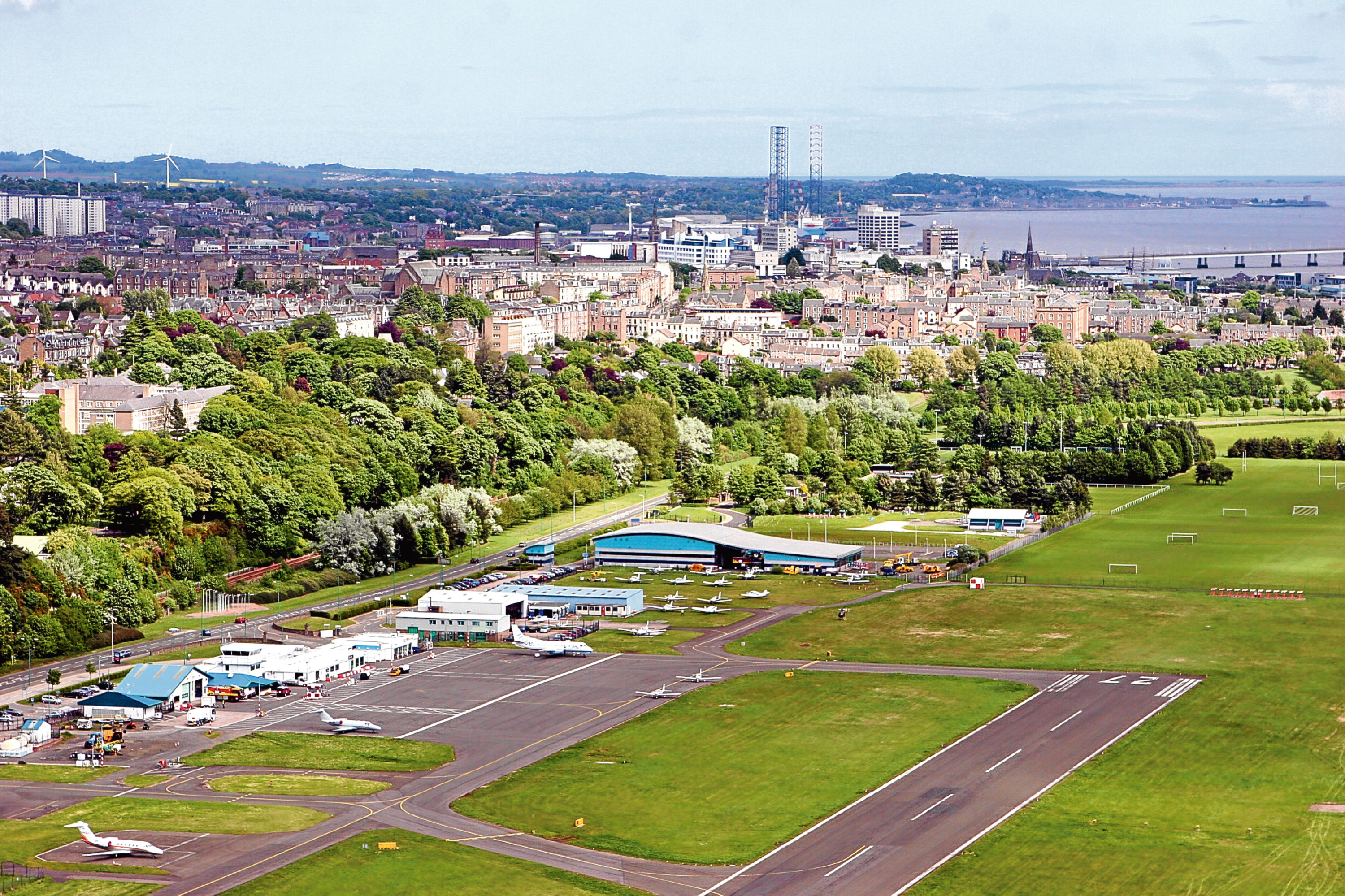Golfers have been using Dundee Airport to access courses in Tayside and Fife as two major tournaments are held in Scotland — one at Carnoustie.