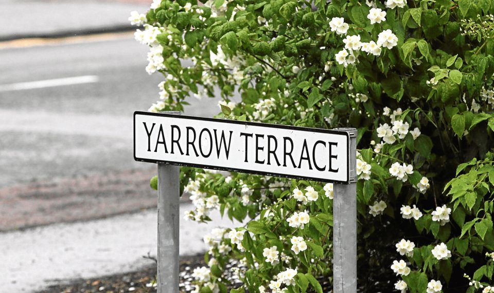 Police were at a property on Yarrow Terrace for several hours.