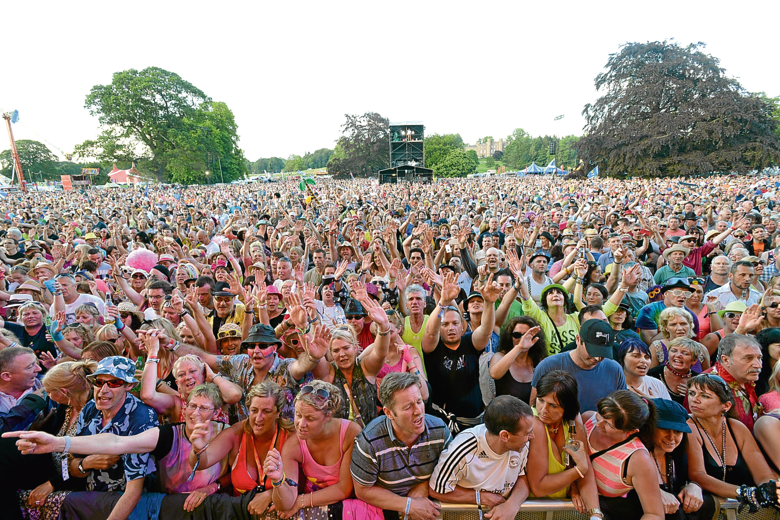 Revellers at a previous Rewind Festival in the grounds of Scone Palace.