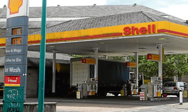 The Shell Garage near Ward Road
