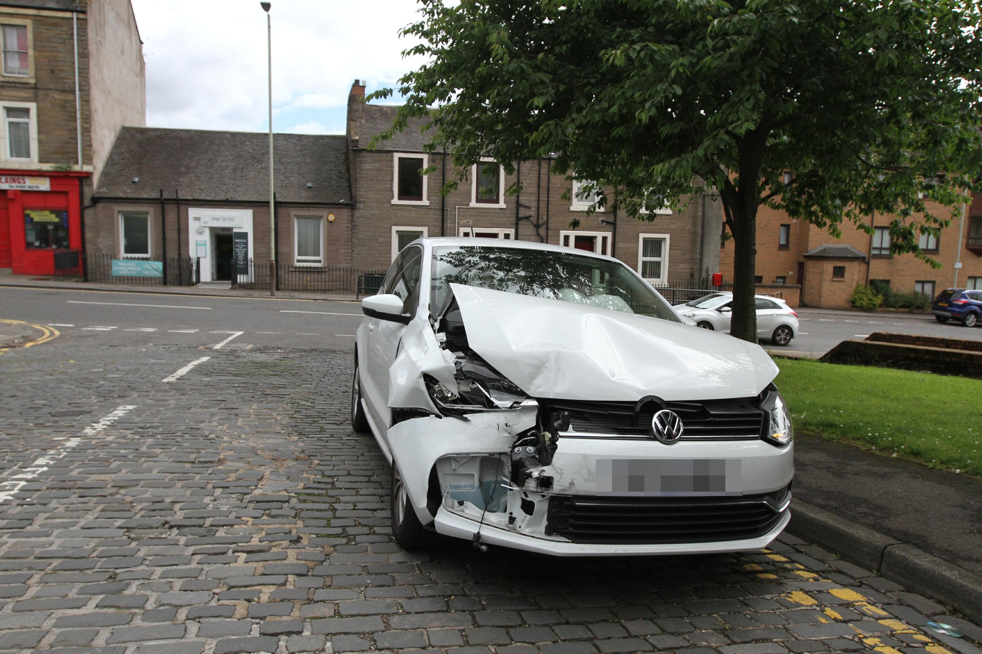One of the vehicles involved in the smash