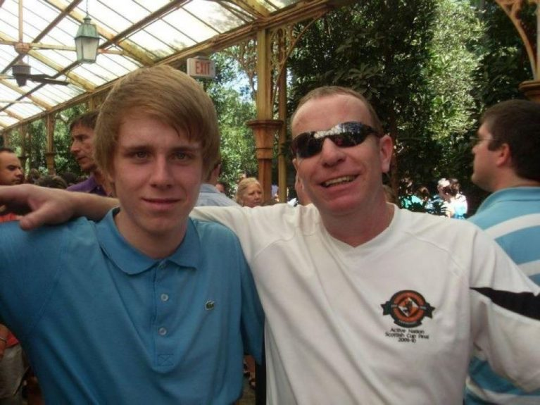 Steven pictured with his son Darren.