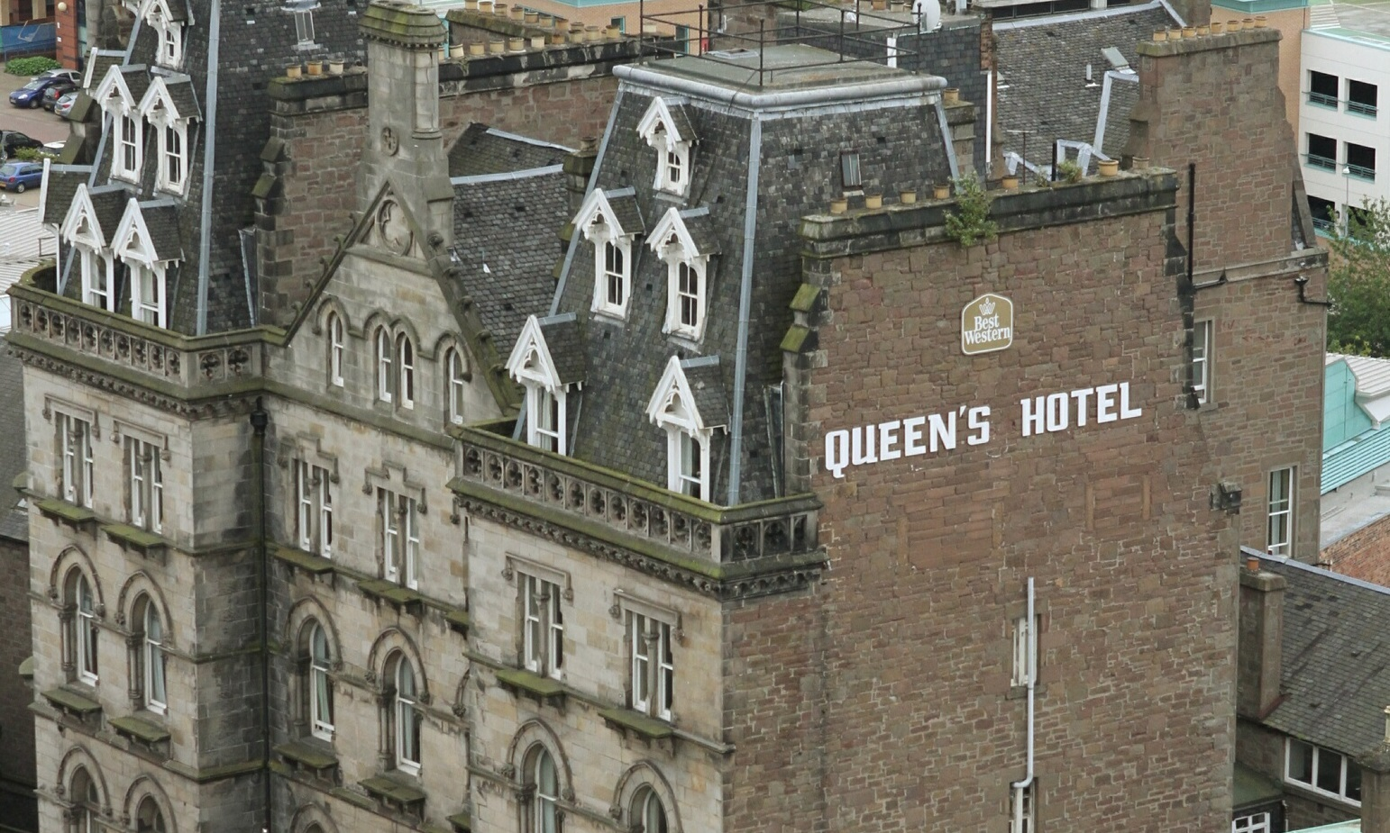 fire crews were called to the Queen's Hotel on Saturday evening.