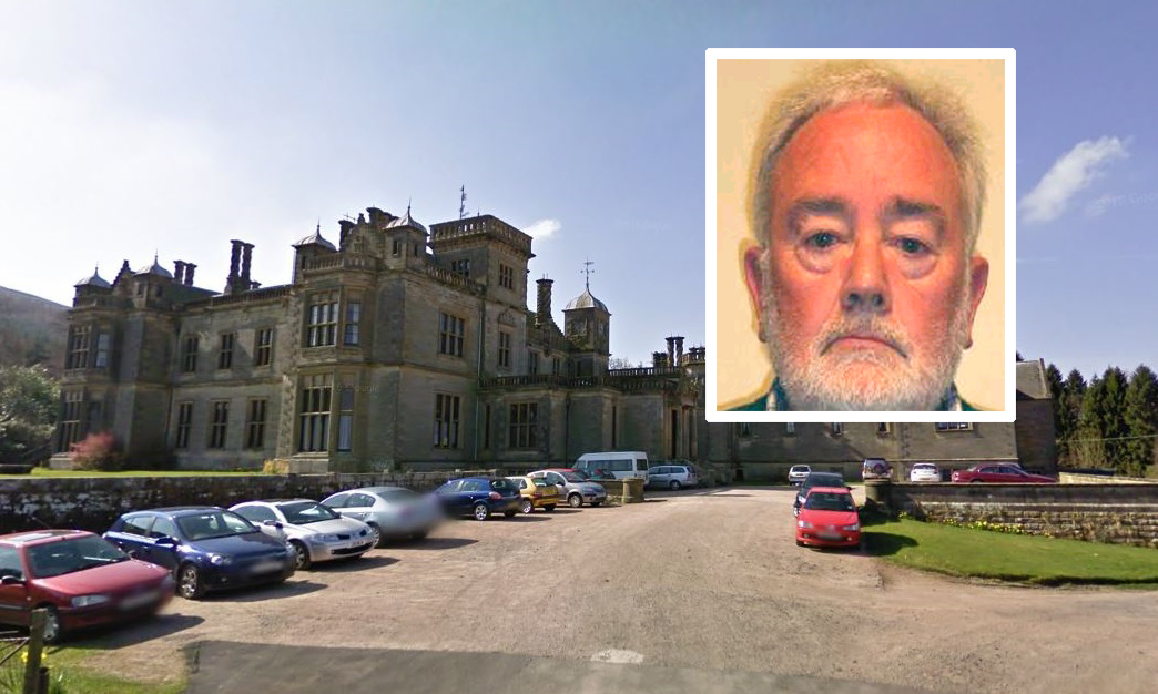 The school building in Fife and John Farrell, one of two men convicted.