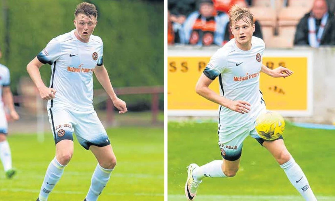 Harry Souttar and Coll Donaldson are set to be at the heart of Dundee United's defence in the League Cup at Arbroath on Friday night.