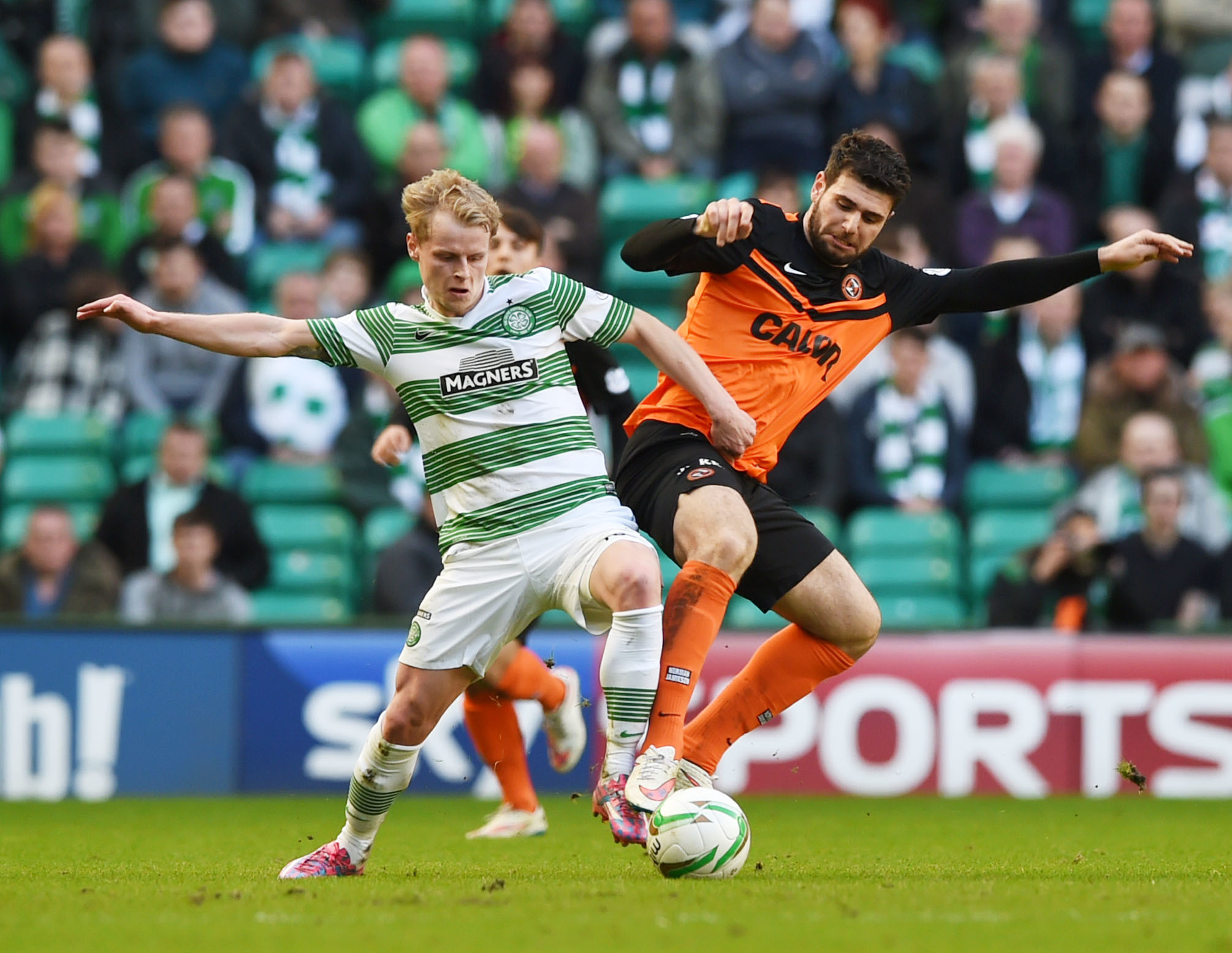 Celtic's Gary Mackay-Steven and Nadir Ciftci-then of Dundee United, won't be coming to Dens Park on loan