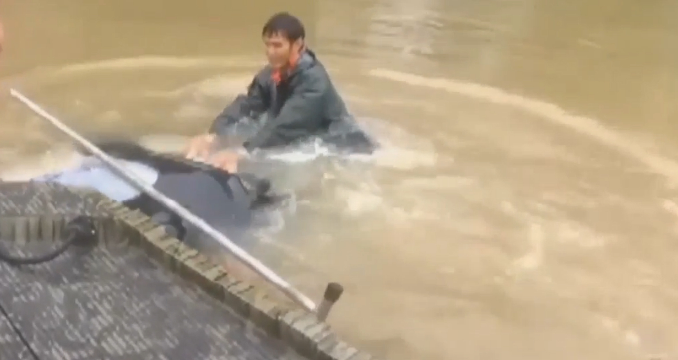 """Three people have died and thousands have been rescued from their homes and cars after """"unprecedented"""" flooding in Louisiana."""