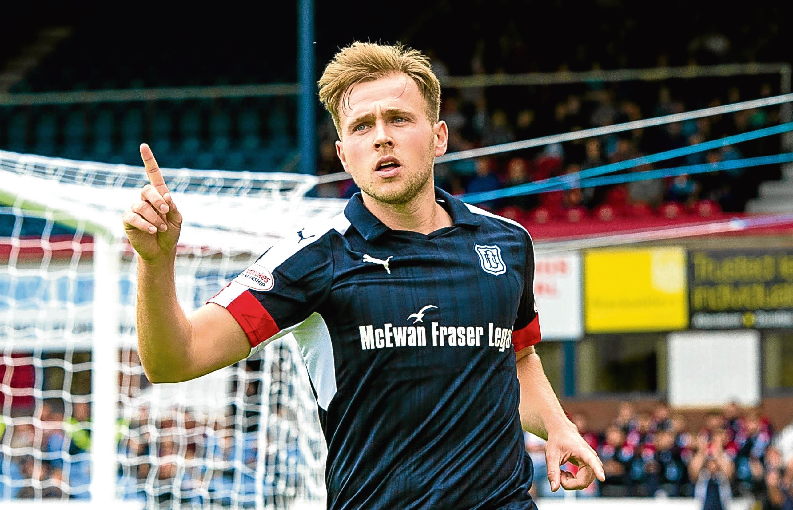 Greg Stewart in action for Dundee