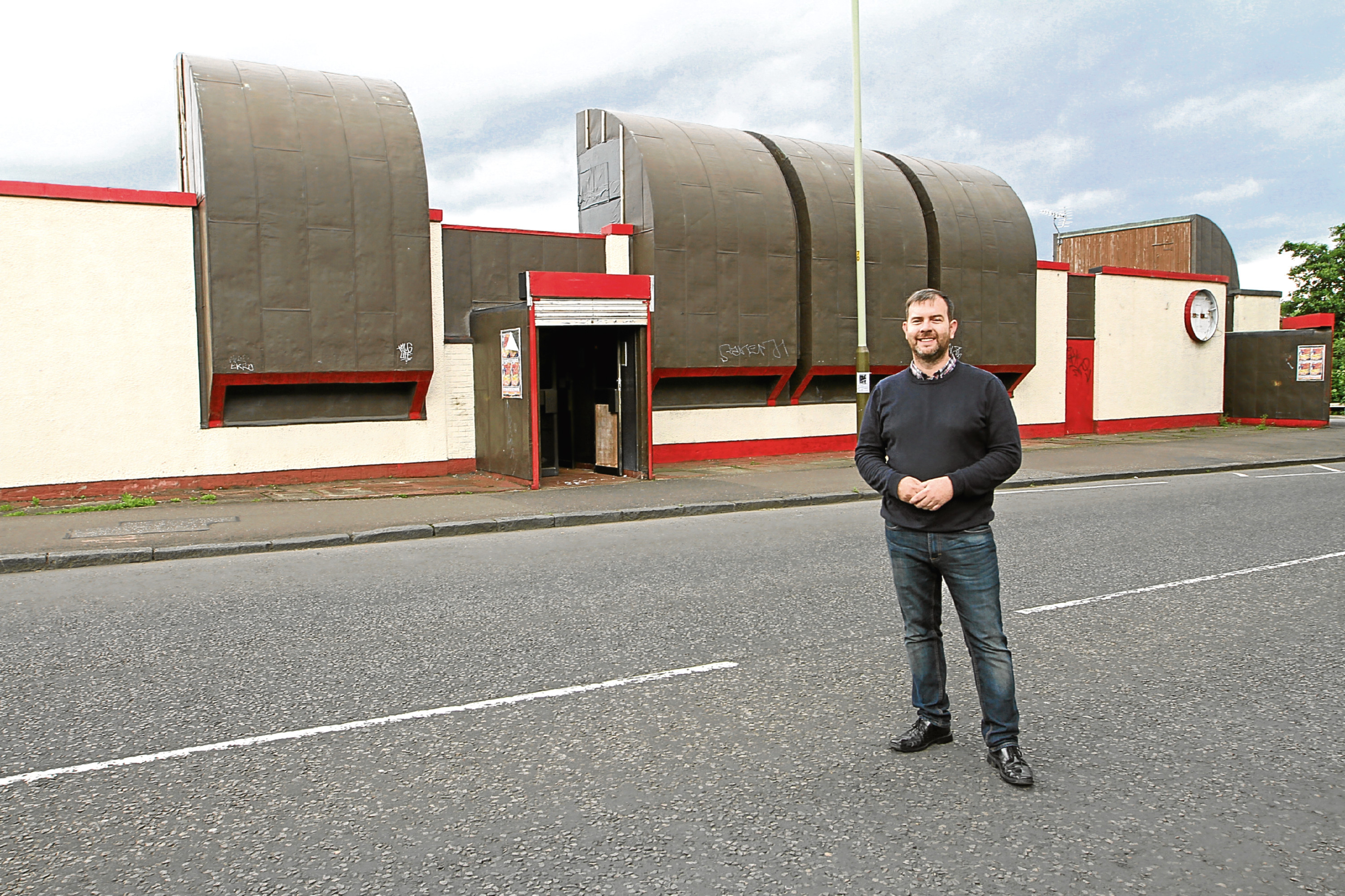 Graham Brown, outside the former the Planet Bar
