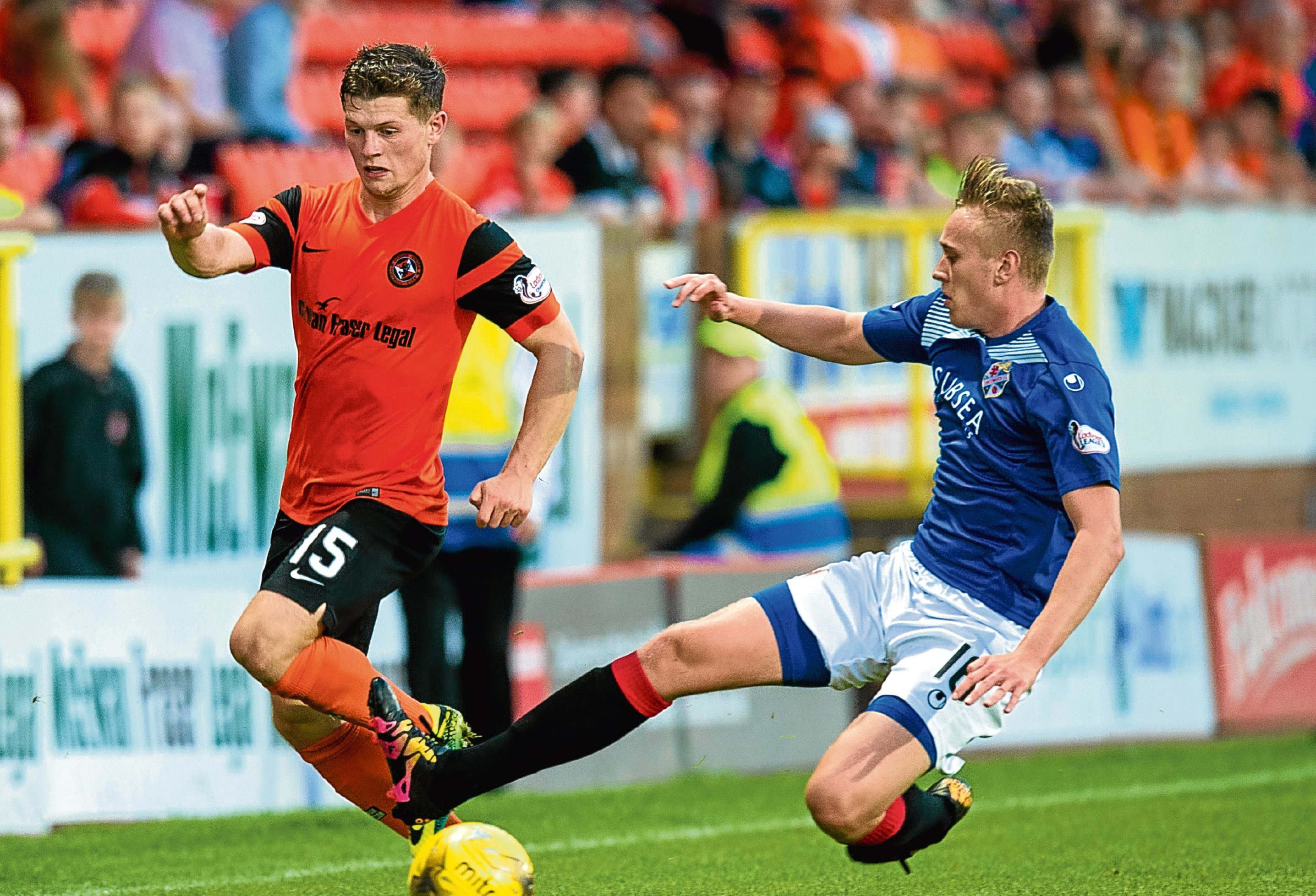 Cammy Smith in action against Cowdenbeath.