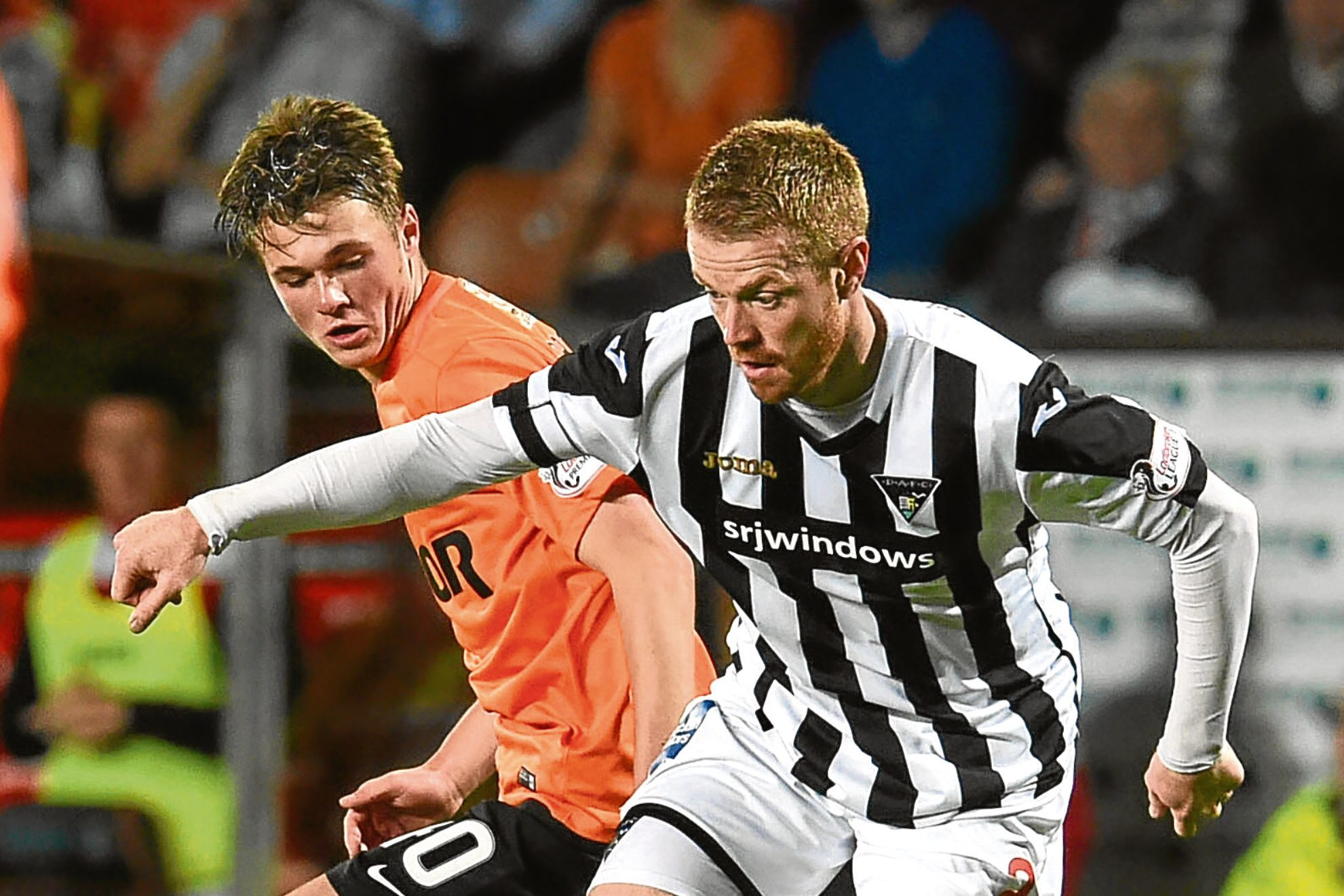 Full-back Jamie Robson made his debut appearance for Dundee United last season during their 3-1 League Cup win against Dunfermline.