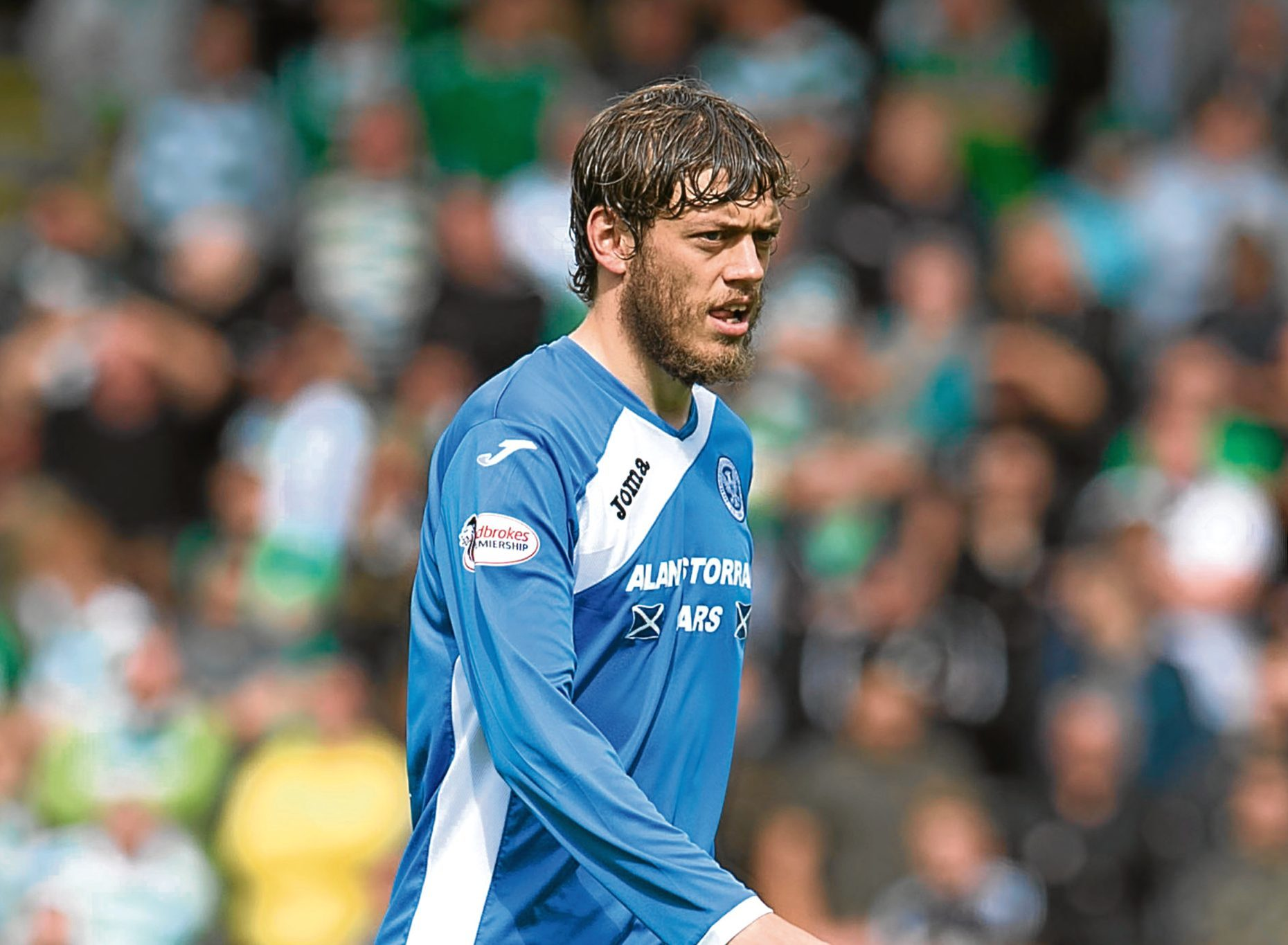 Murray Davidson in action for St Johnstone