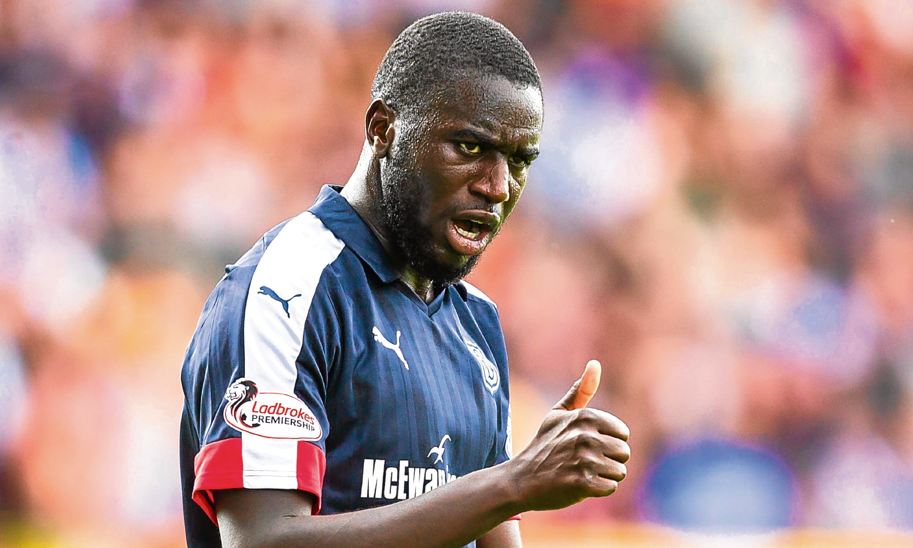 Kevin Gomis could return to the Dundee backline.  FIR PARK - MOTHERWELL   Thumbs from Dundee debut defender Kevin Gomis