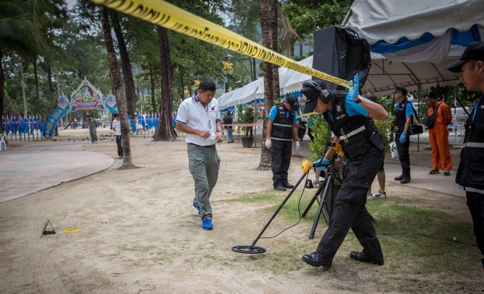 Police serach Patong Beach