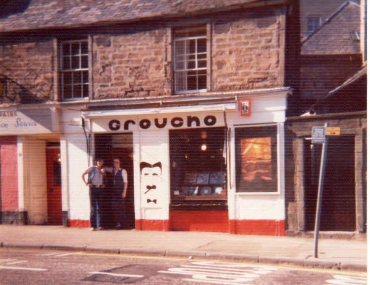 The original Groucho's up the Perth Road on its opening day in 1976.