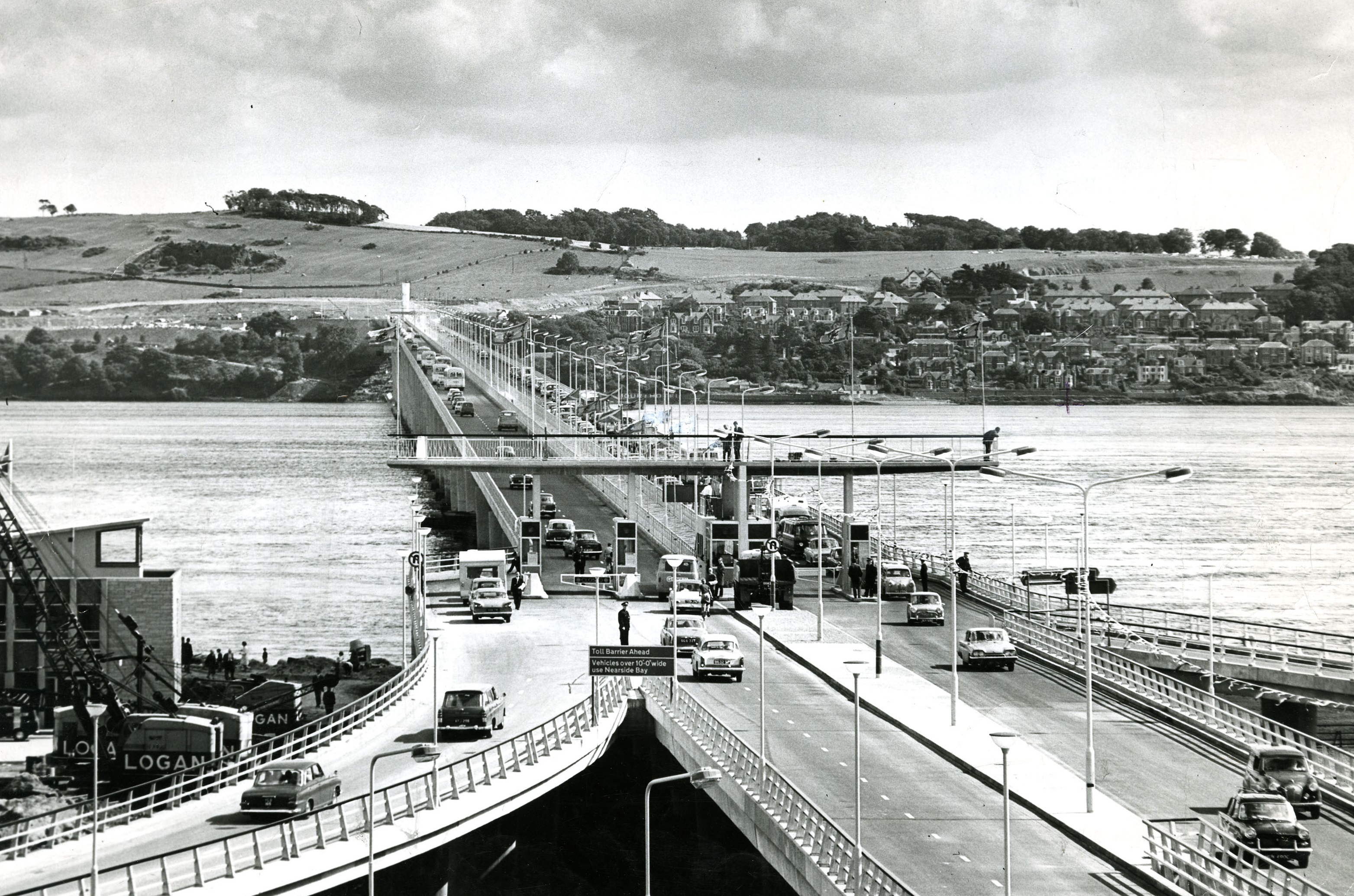 Tay Road Bridge after opening on August 18 1966