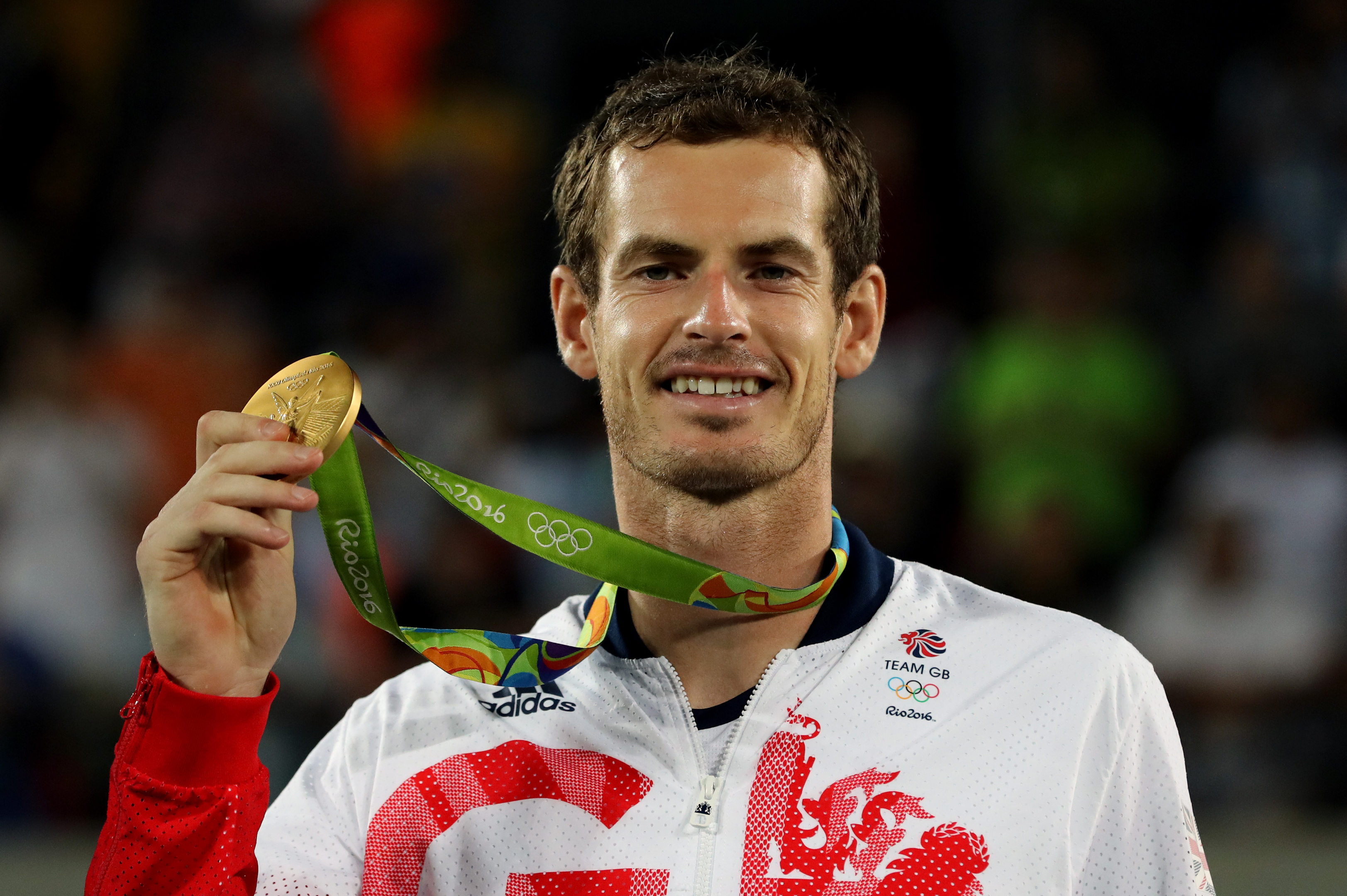 Team GB's Andy Murray with his gold medal