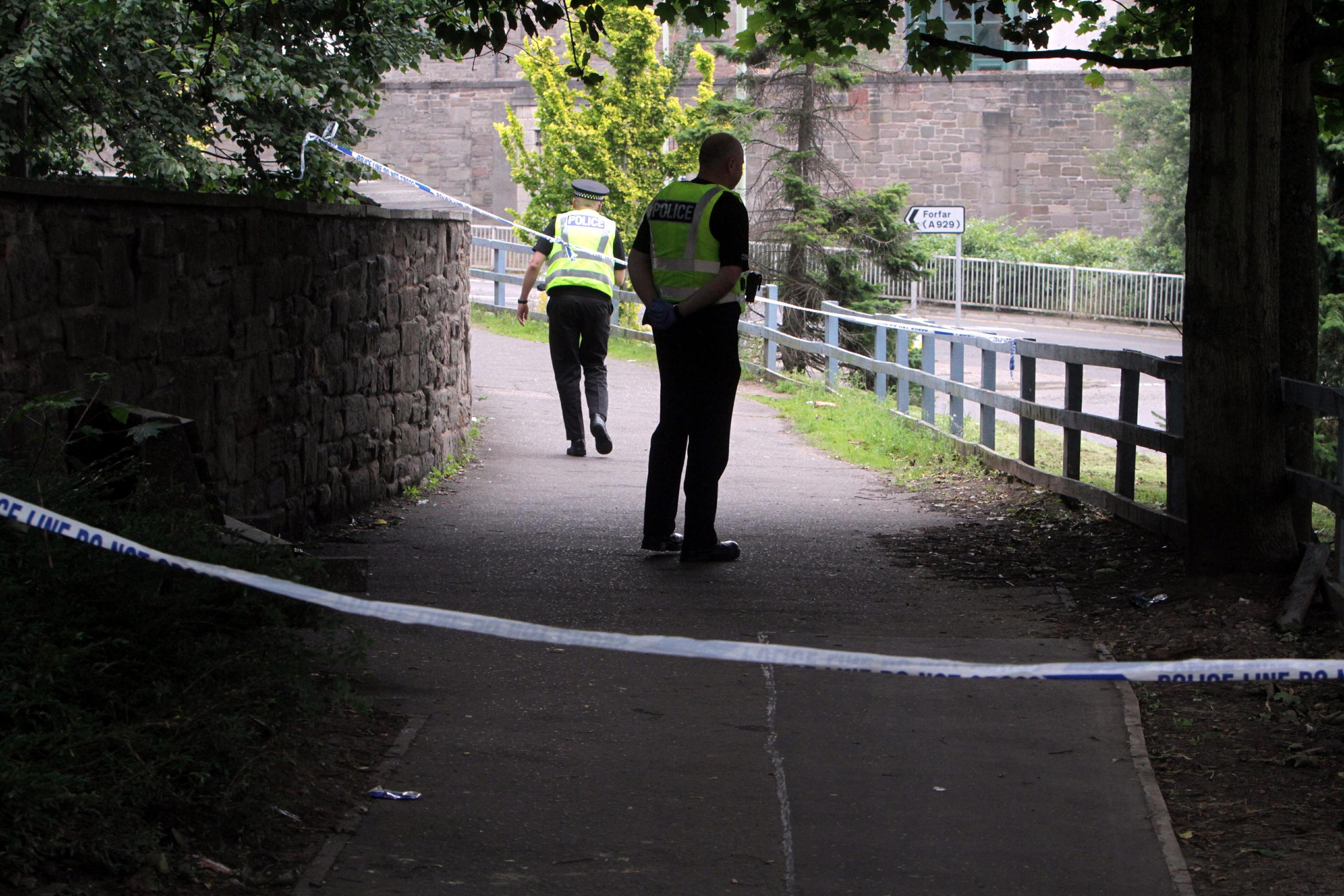 Police near the scene,