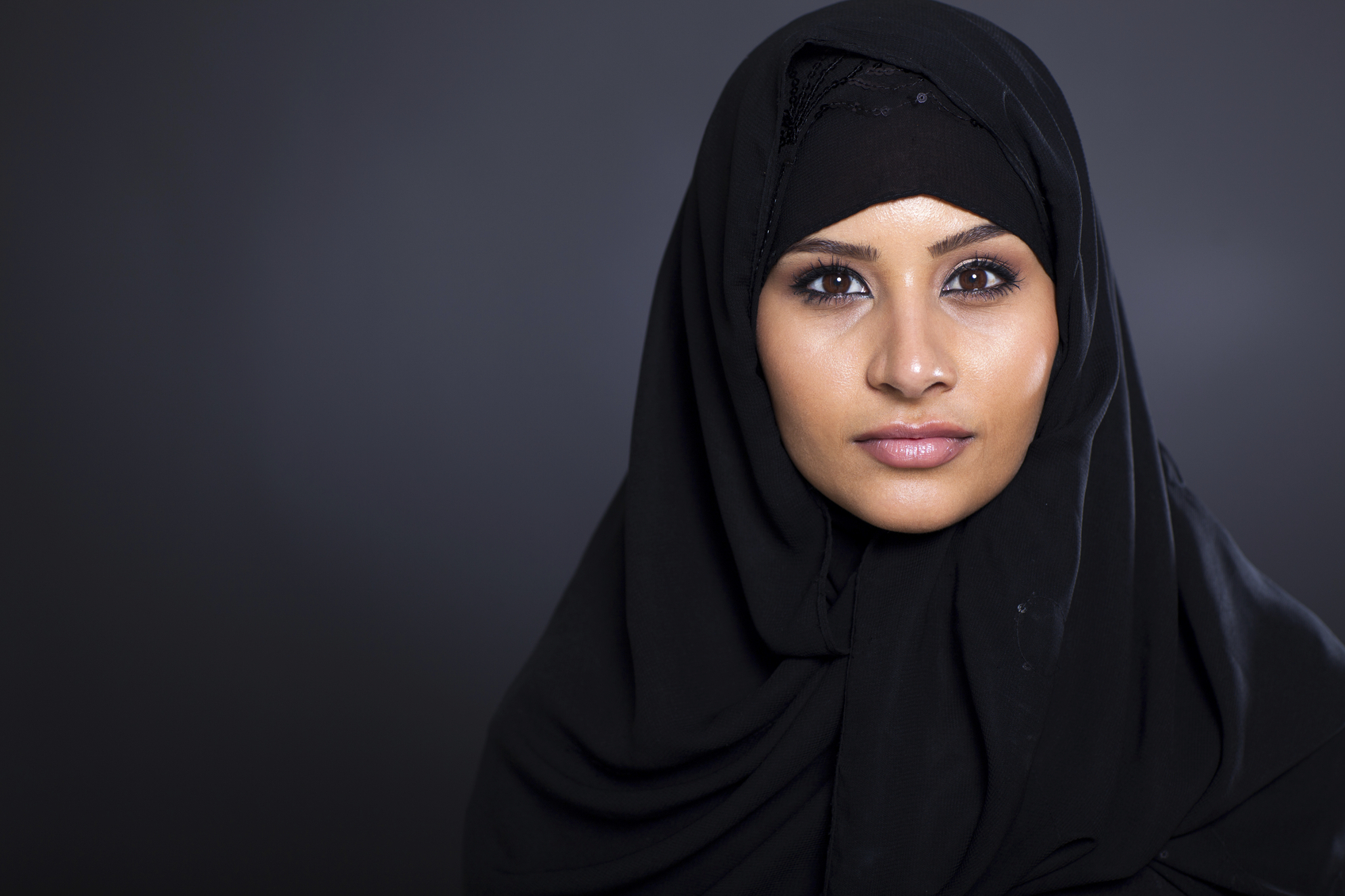 A hijab. picture posed for by model.
