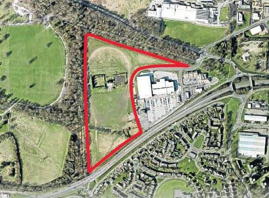 The plot of land purchased by Dark Blue Property Holdings.