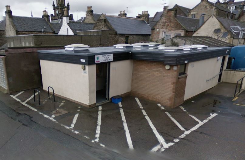 The toilets where Mrs Webster was found