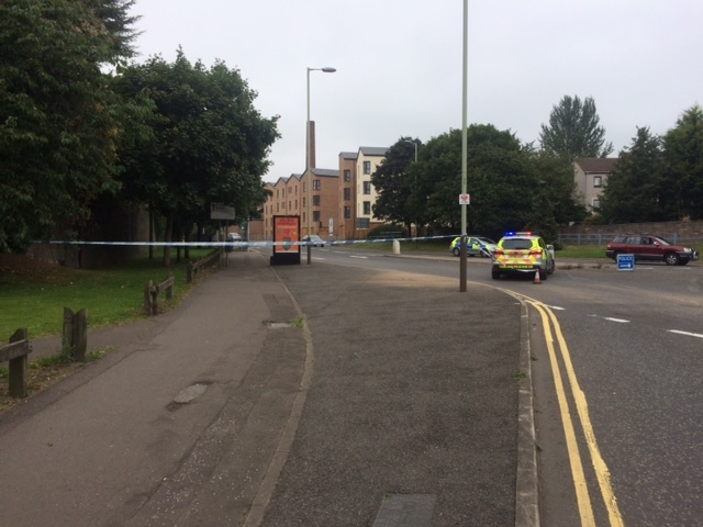 Police cordoned off an area of Dens Road, near to Alexander Street