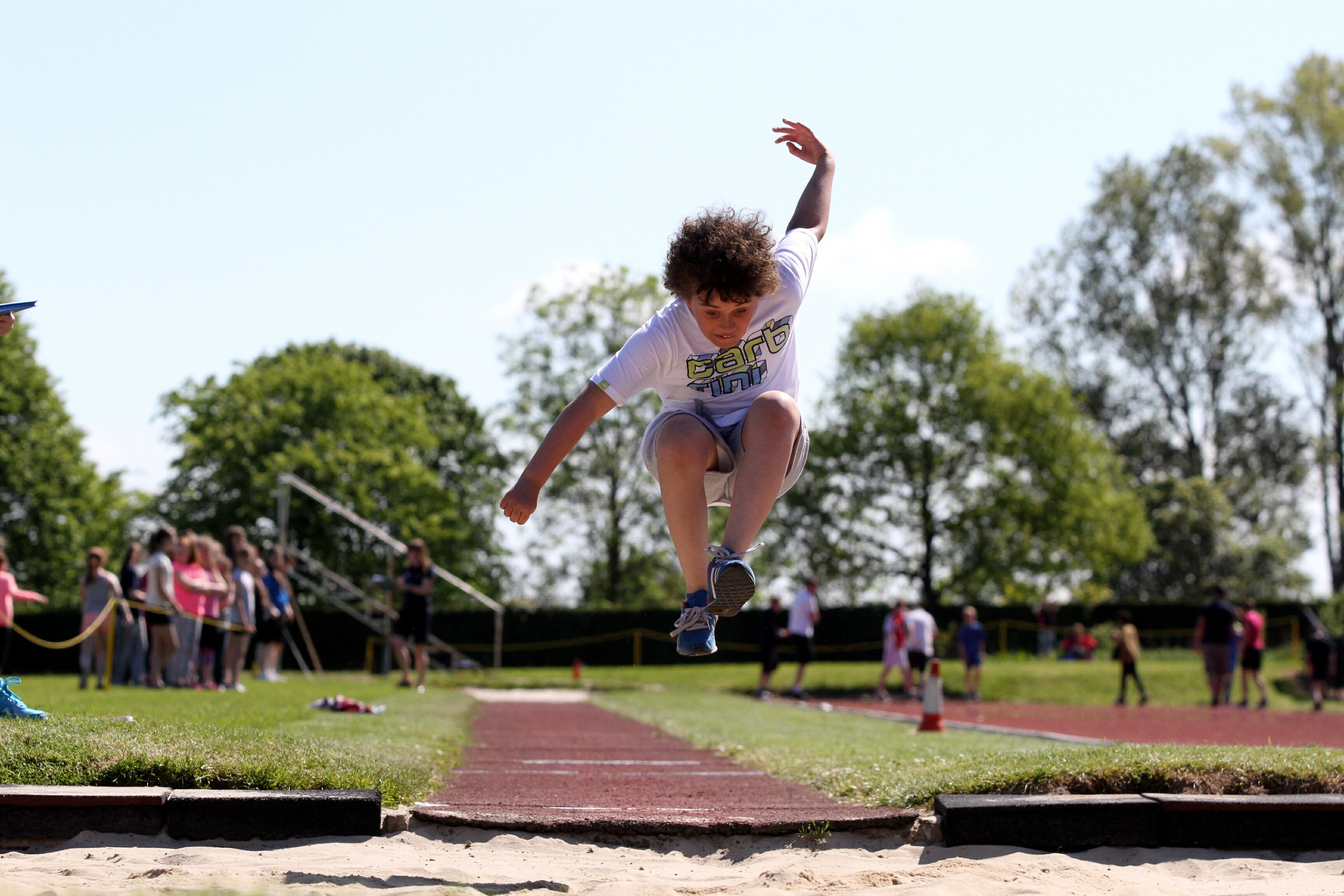 The long jump and basketball are among the sports youngsters have enjoyed.
