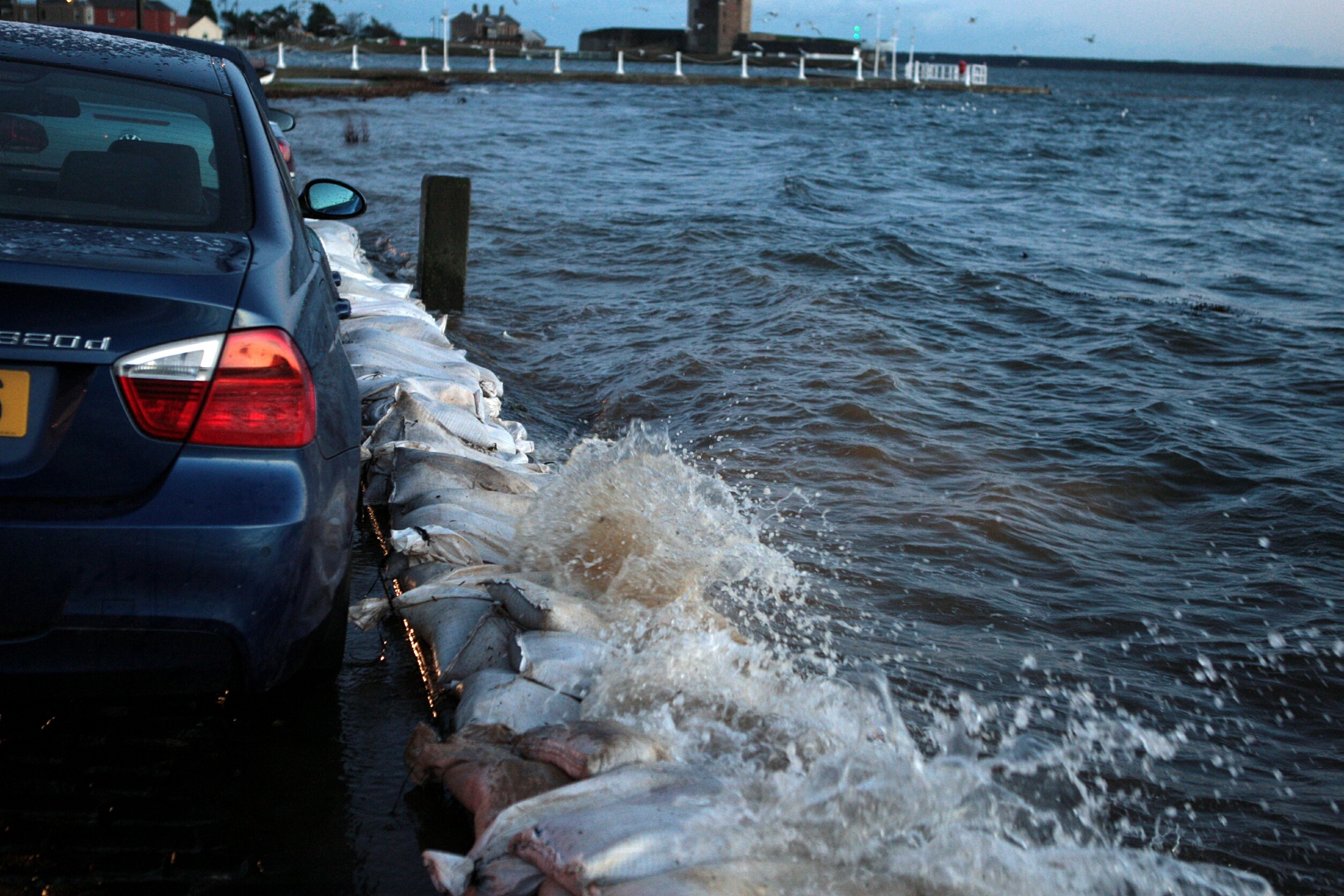 Flooding, like this in Broughty Ferry in 2013, could become a common occurrence, climate change experts have warned.