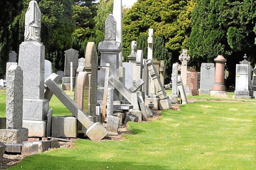 Gravestones at Eastern Cemetery.