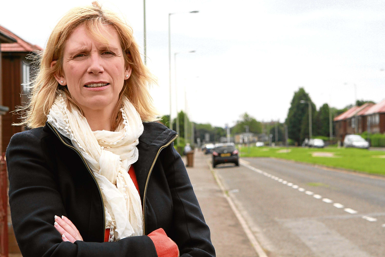 Councillor Lesley Brennan at Glenconnor Drive, Dundee.