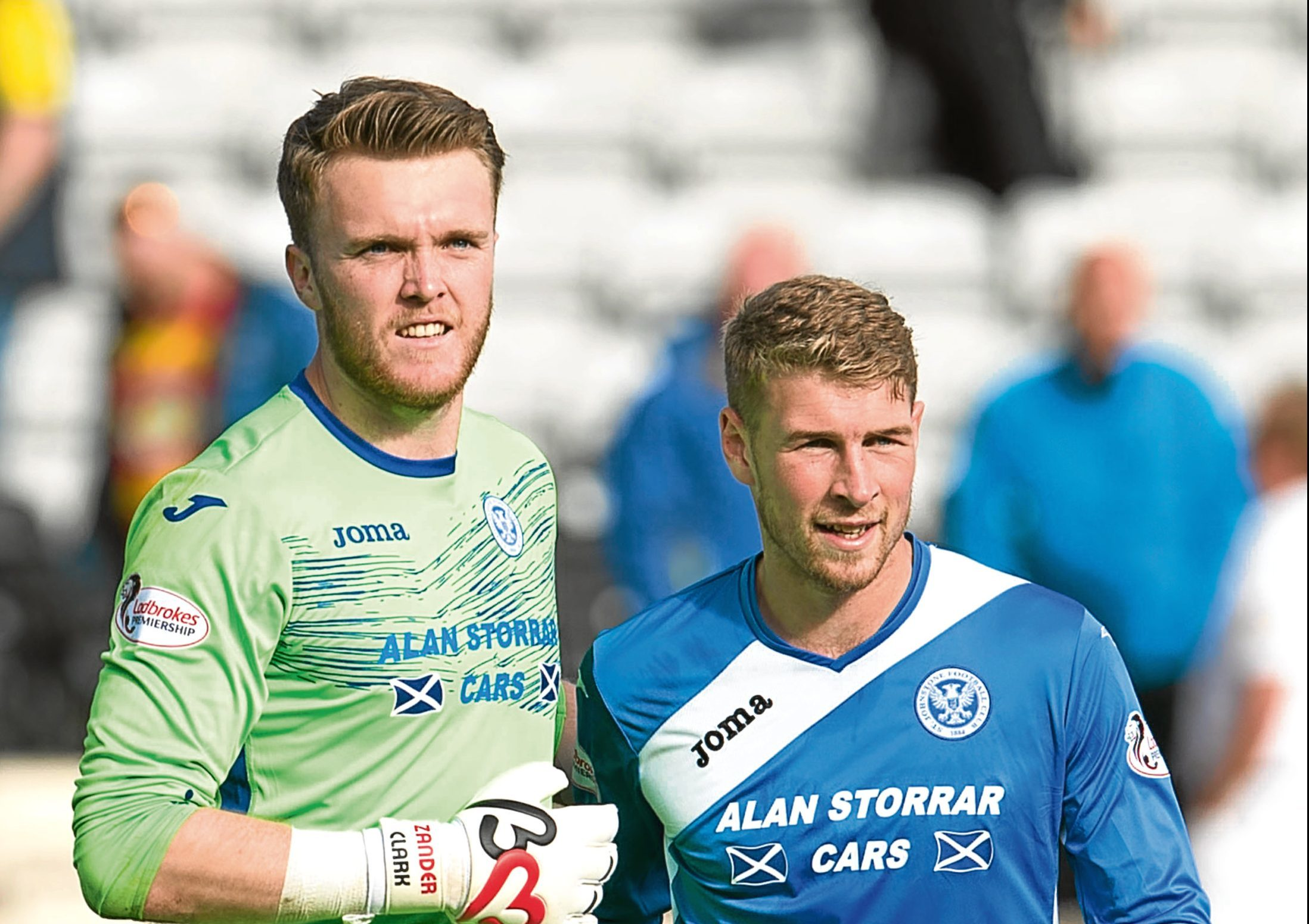 David Wotherspoon (right) should be fit for the Aberdeen clash